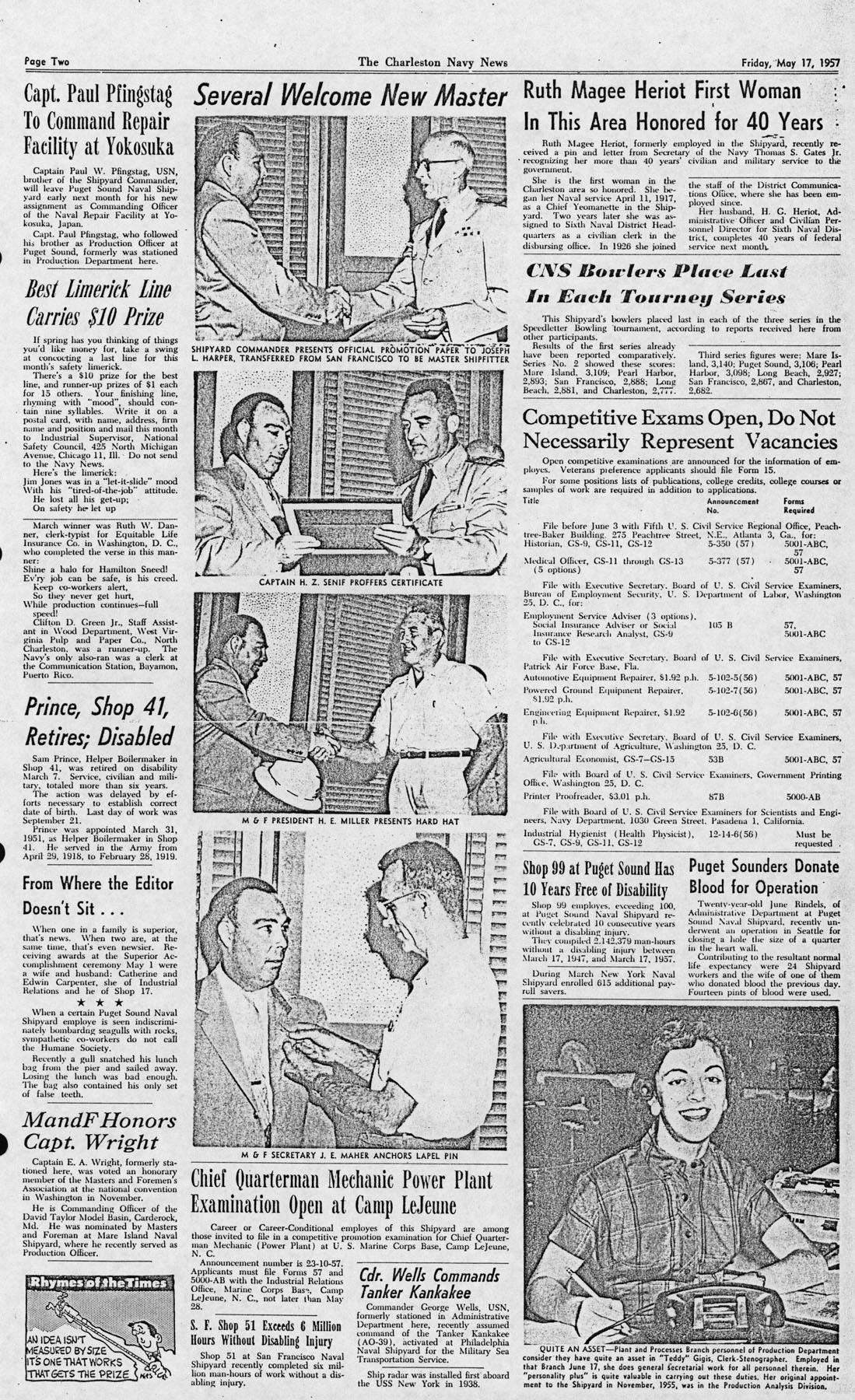 The Charleston Navy News, Volume 15, Edition 22, page ii
