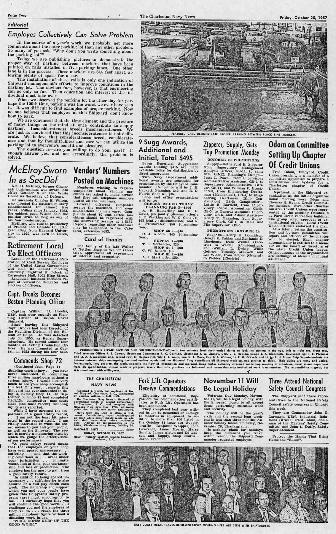 The Charleston Navy News, Volume 16, Edition 7, page ii