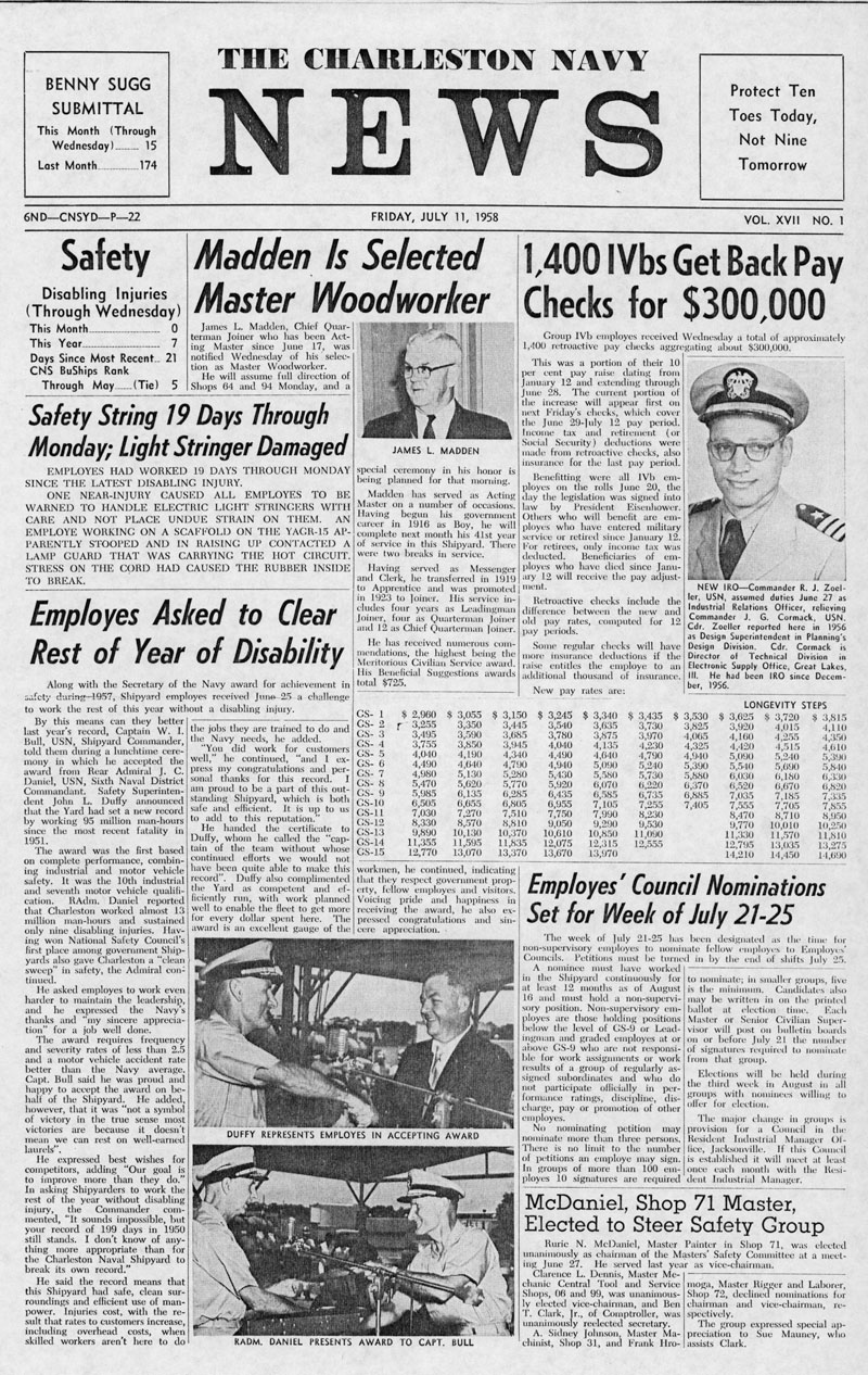 The Charleston Navy News, Volume 17, Edition 1, page i