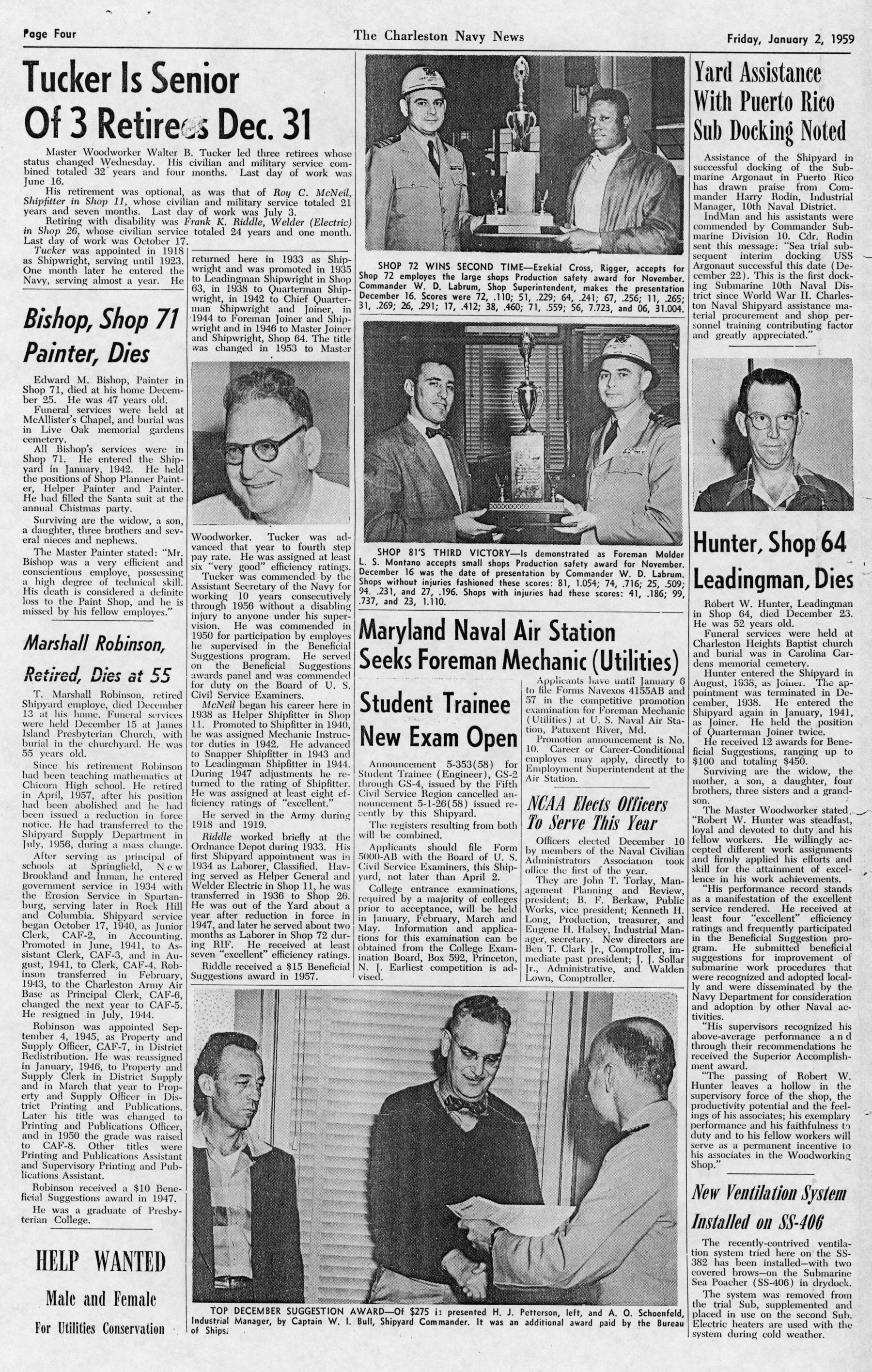 The Charleston Navy News, Volume 17, Edition 13, page iv