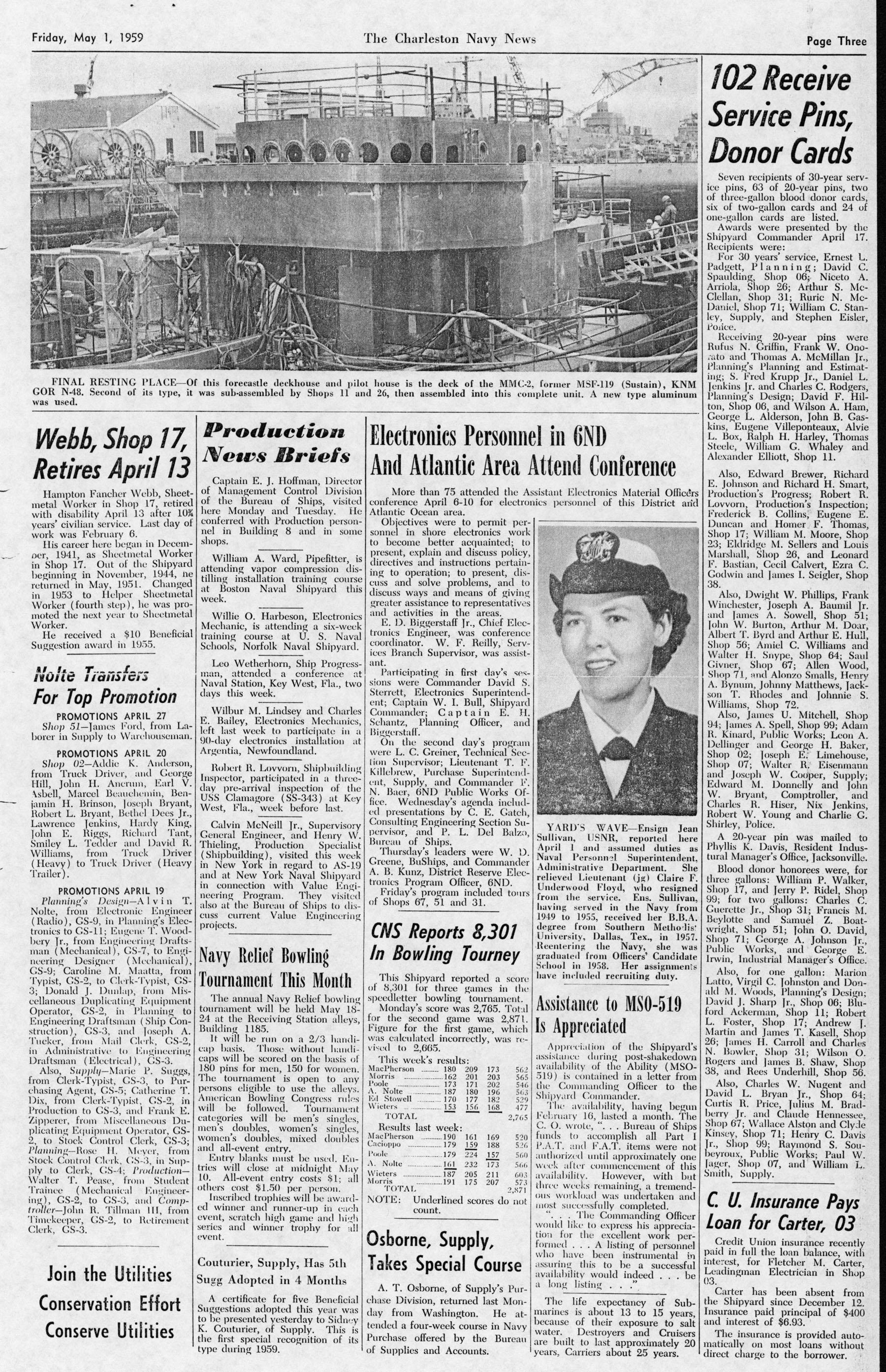 The Charleston Navy News, Volume 17, Edition 21, page iii