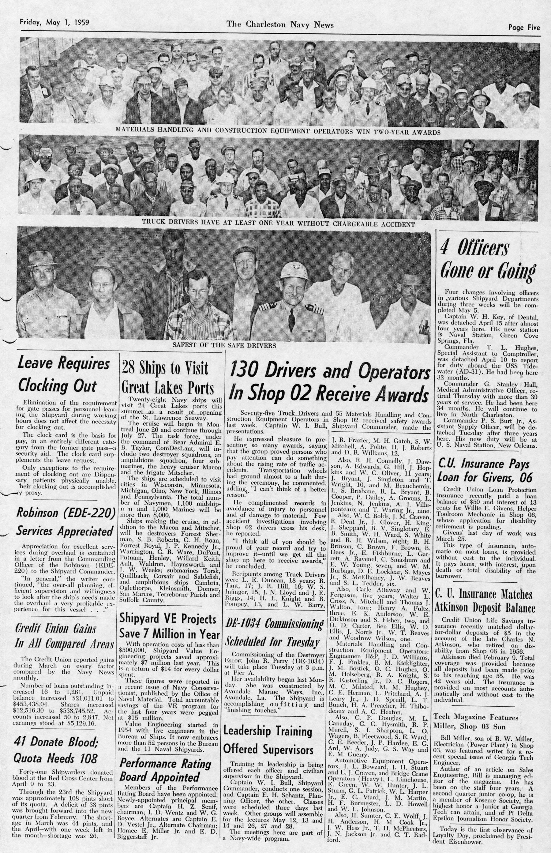 The Charleston Navy News, Volume 17, Edition 21, page v