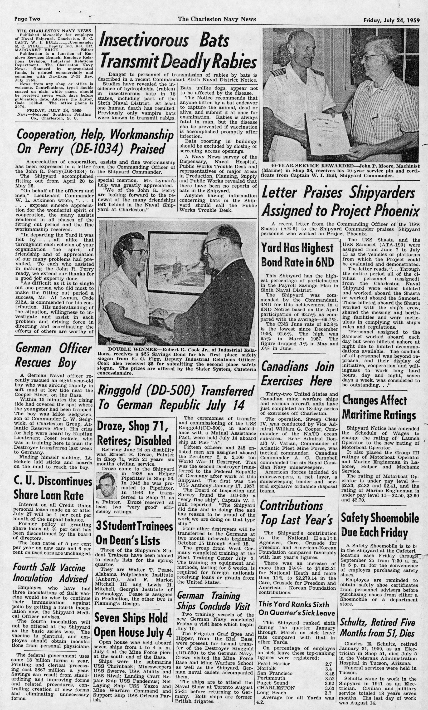 The Charleston Navy News, Volume 18, Edition 1, page ii