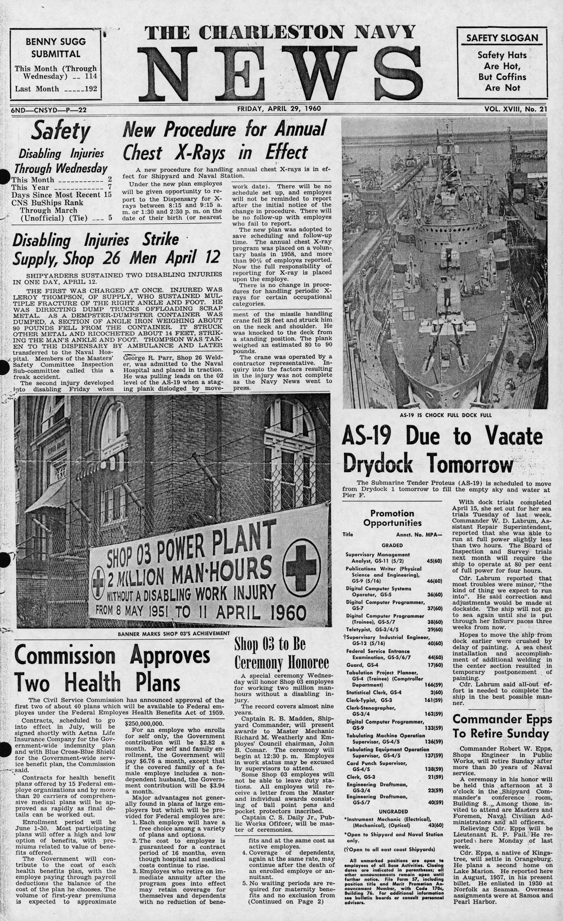 The Charleston Navy News, Volume 18, Edition 21, page i