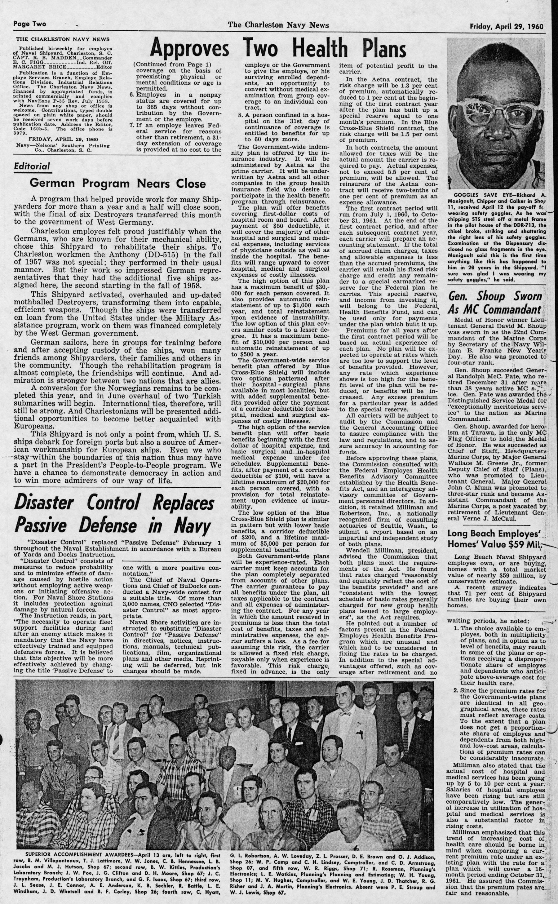 The Charleston Navy News, Volume 18, Edition 21, page ii