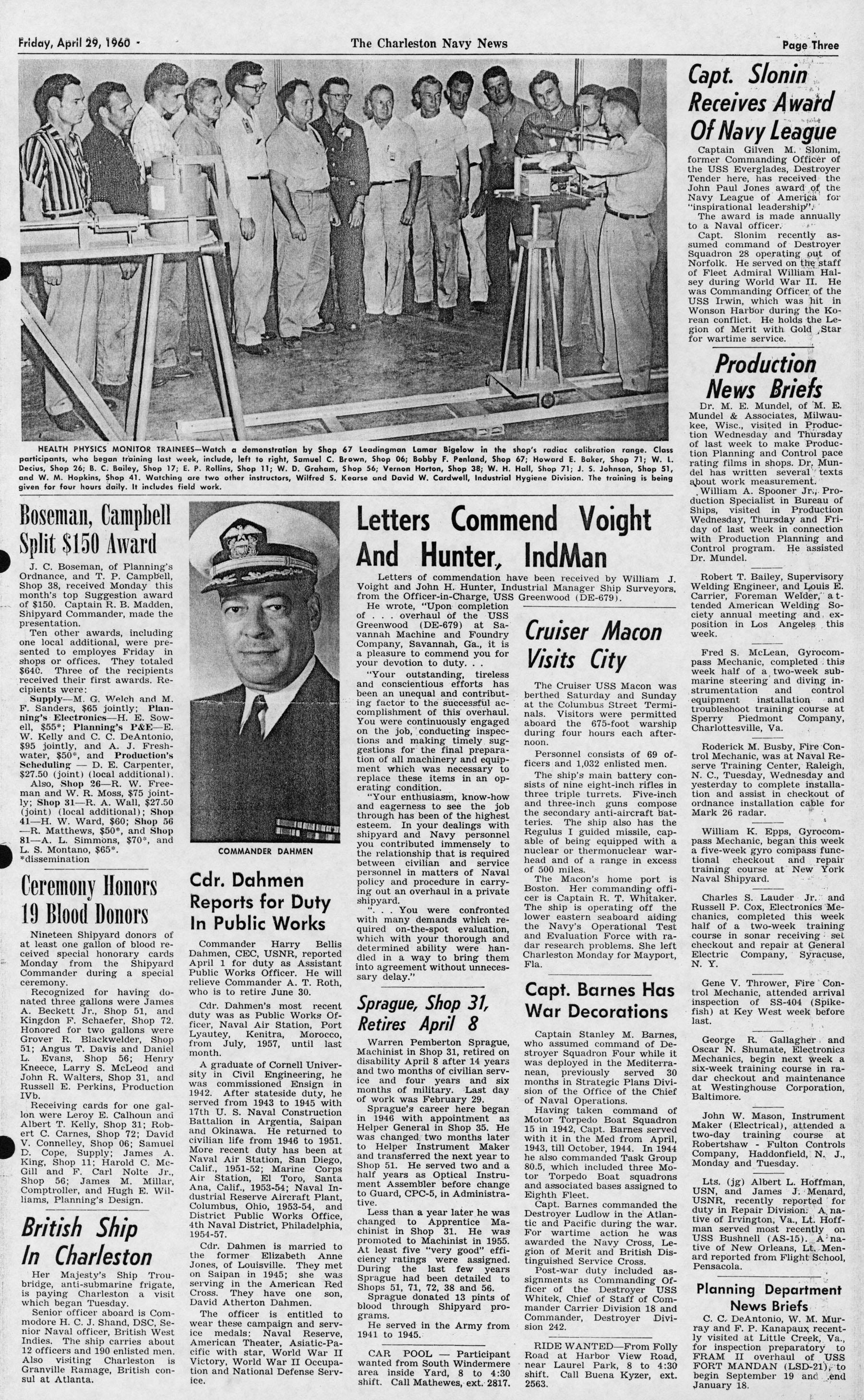 The Charleston Navy News, Volume 18, Edition 21, page iii