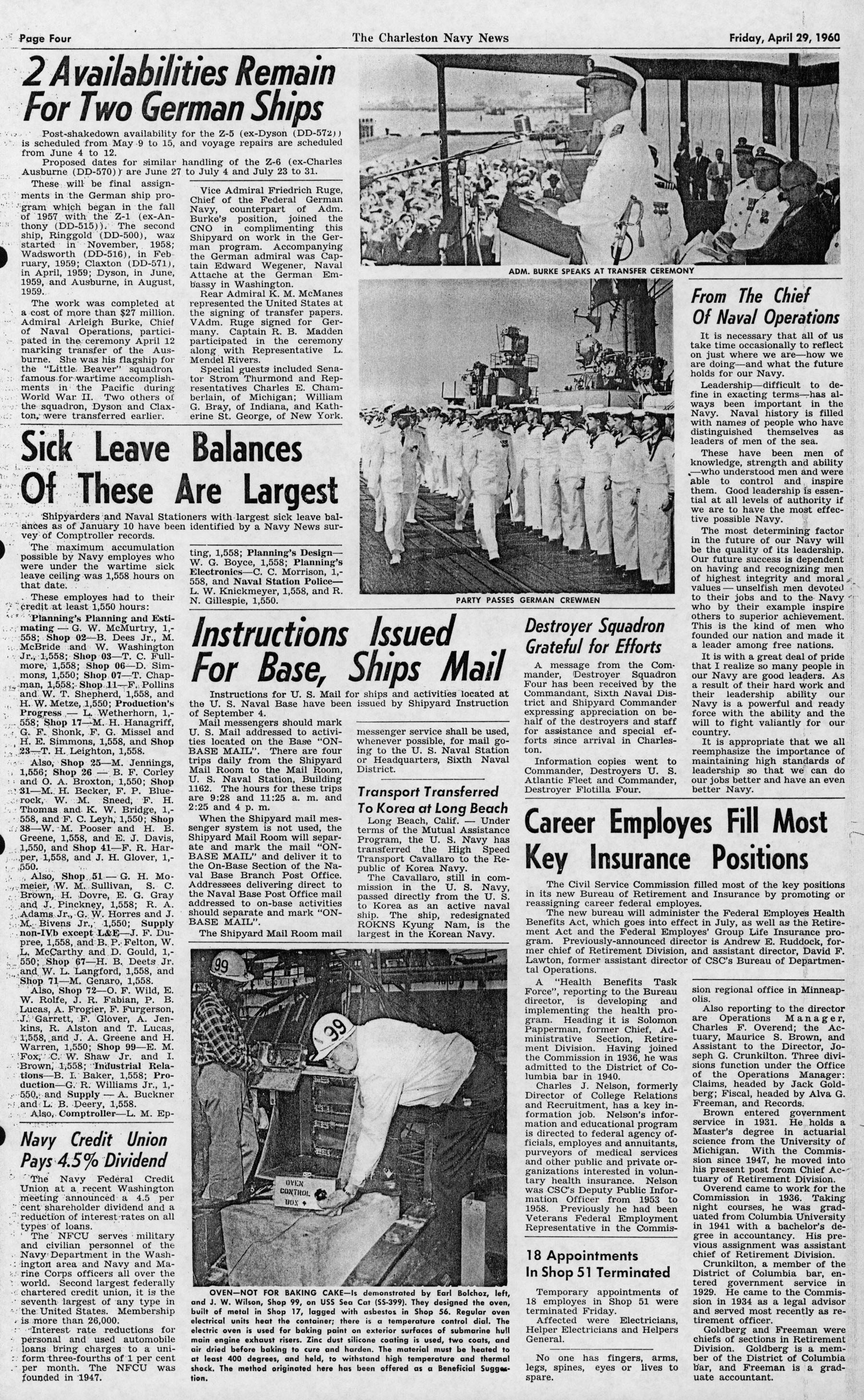 The Charleston Navy News, Volume 18, Edition 21, page iv