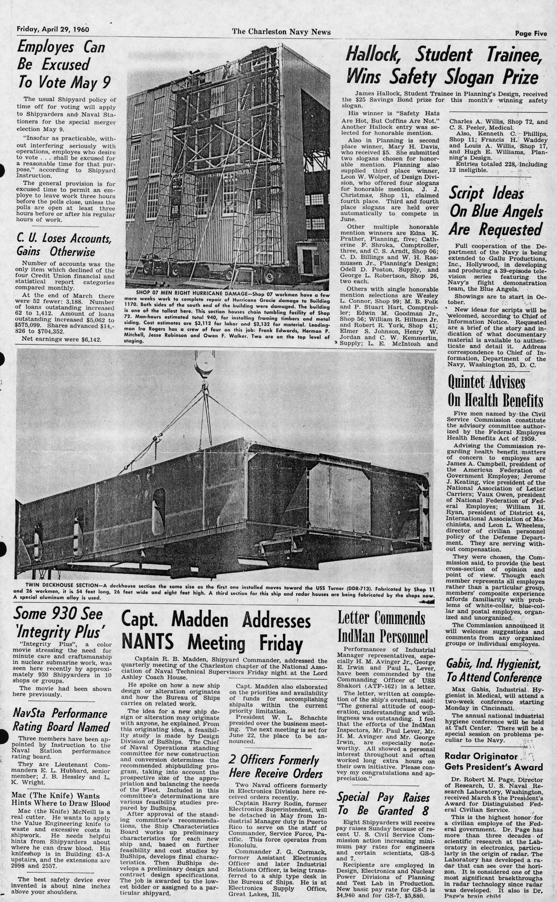 The Charleston Navy News, Volume 18, Edition 21, page v