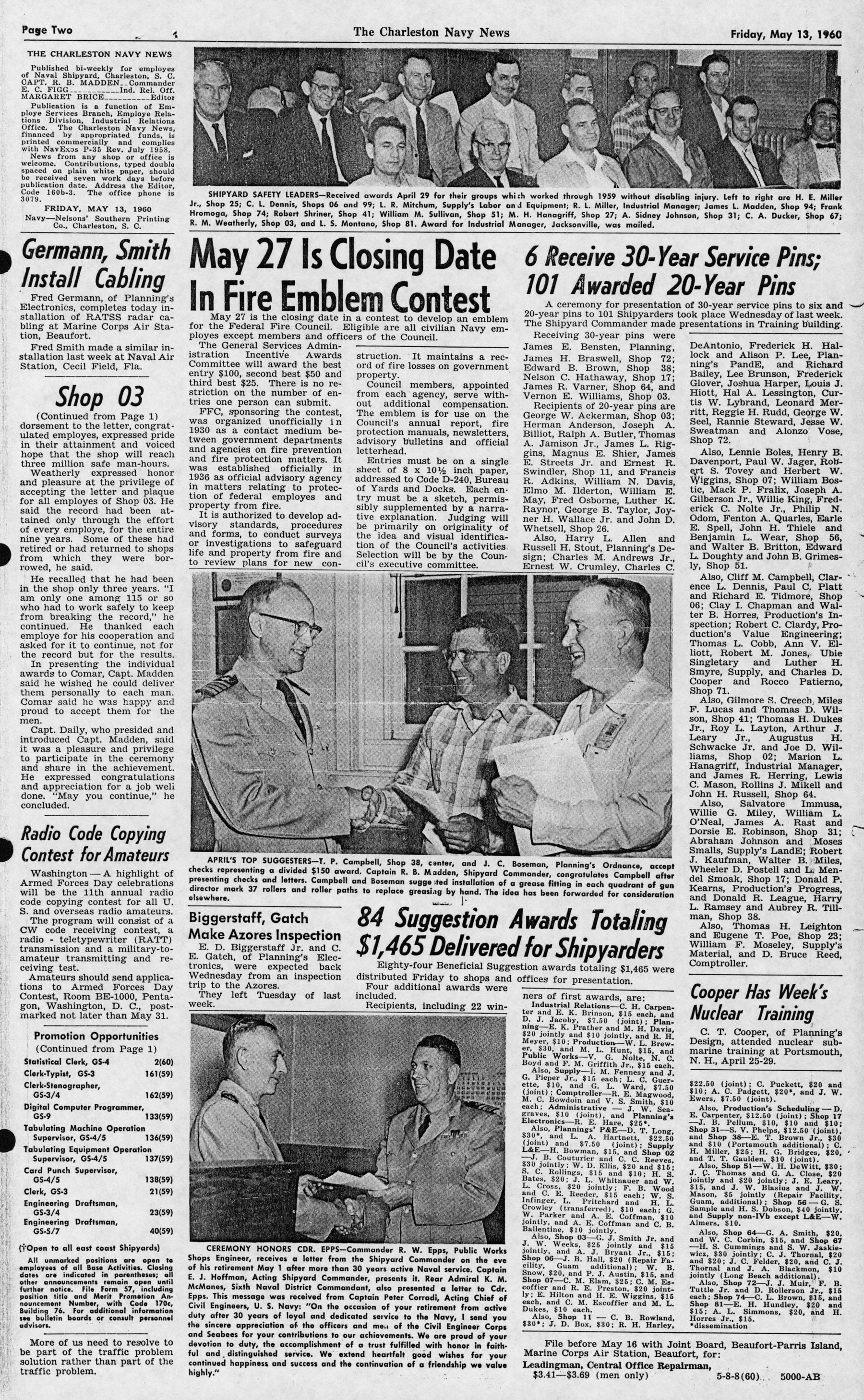 The Charleston Navy News, Volume 18, Edition 22, page ii