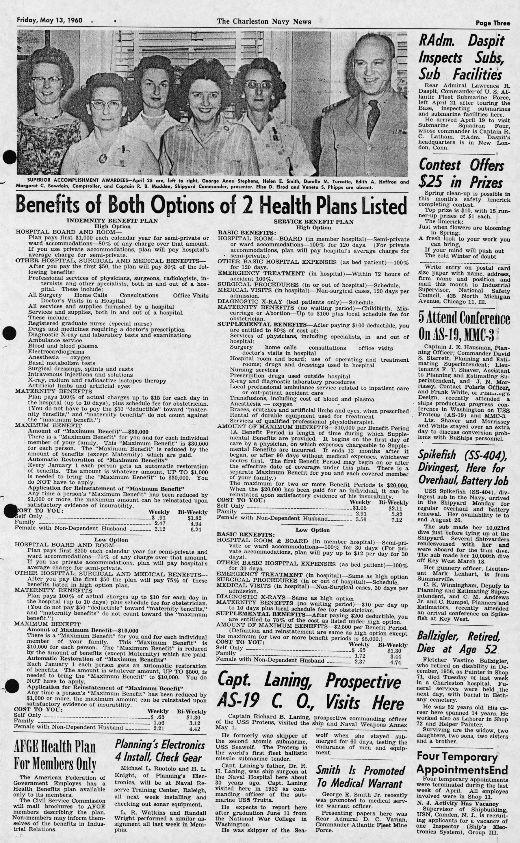 The Charleston Navy News, Volume 18, Edition 22, page iii