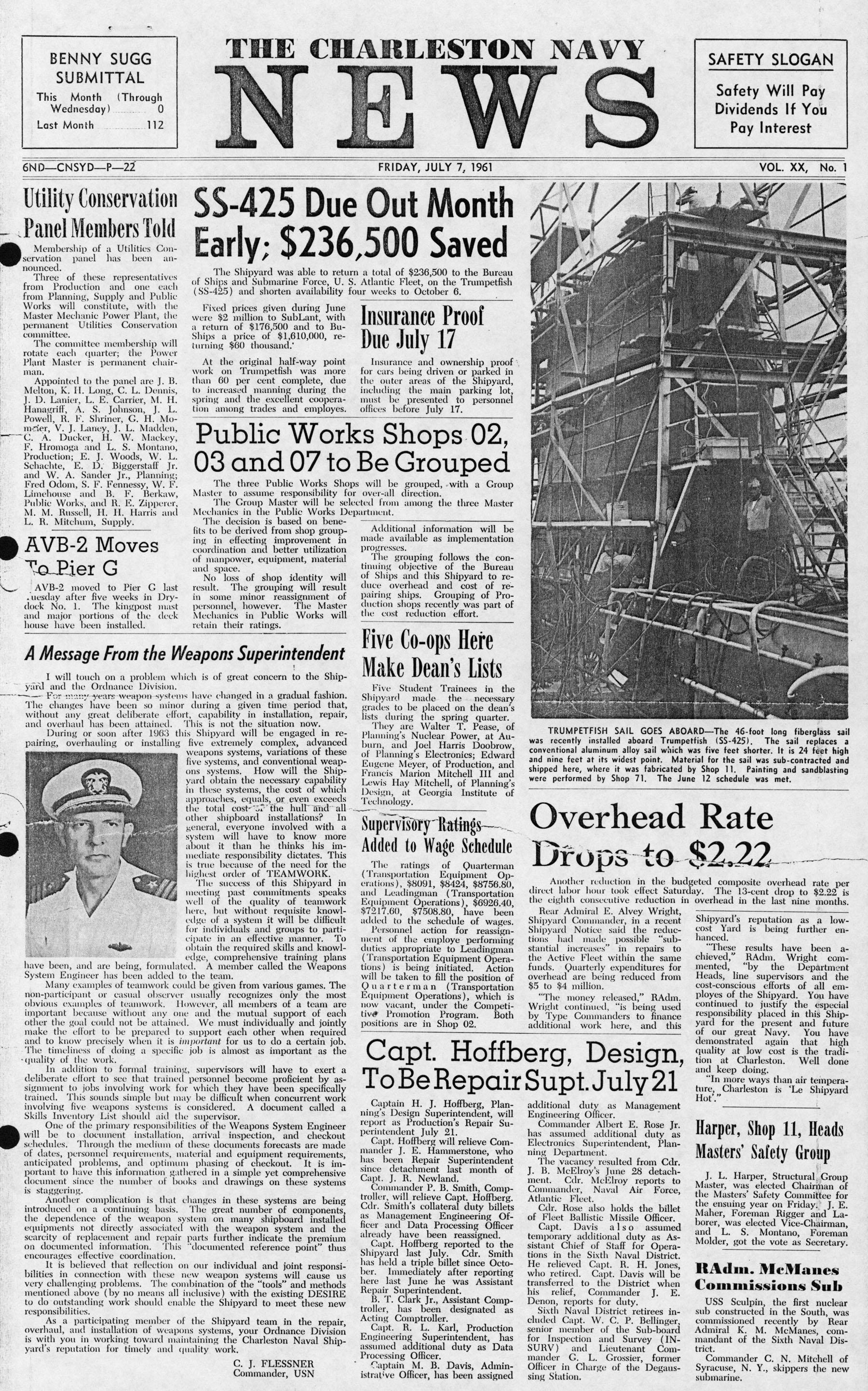 The Charleston Navy News, Volume 20, Edition 1, page i