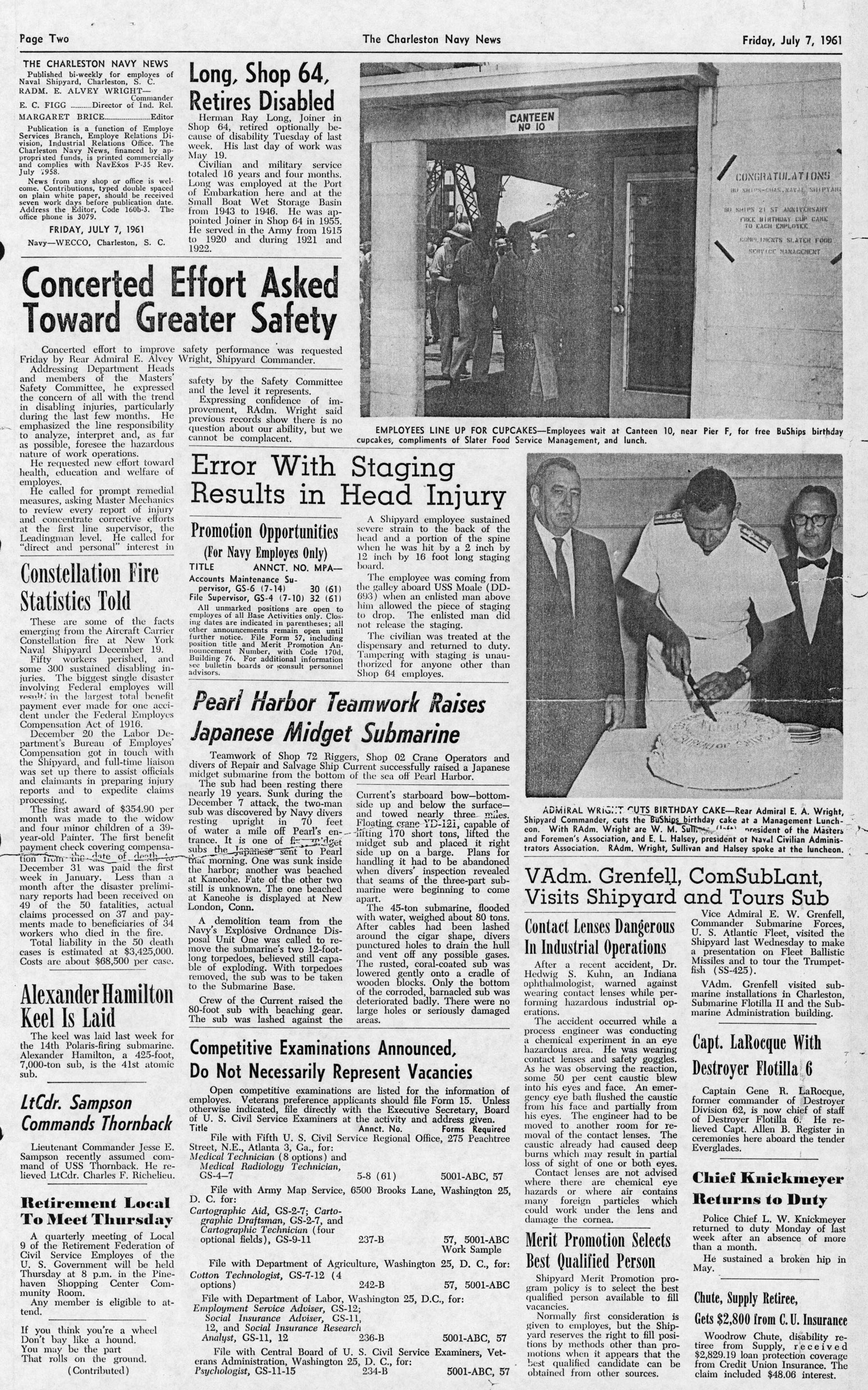 The Charleston Navy News, Volume 20, Edition 1, page ii