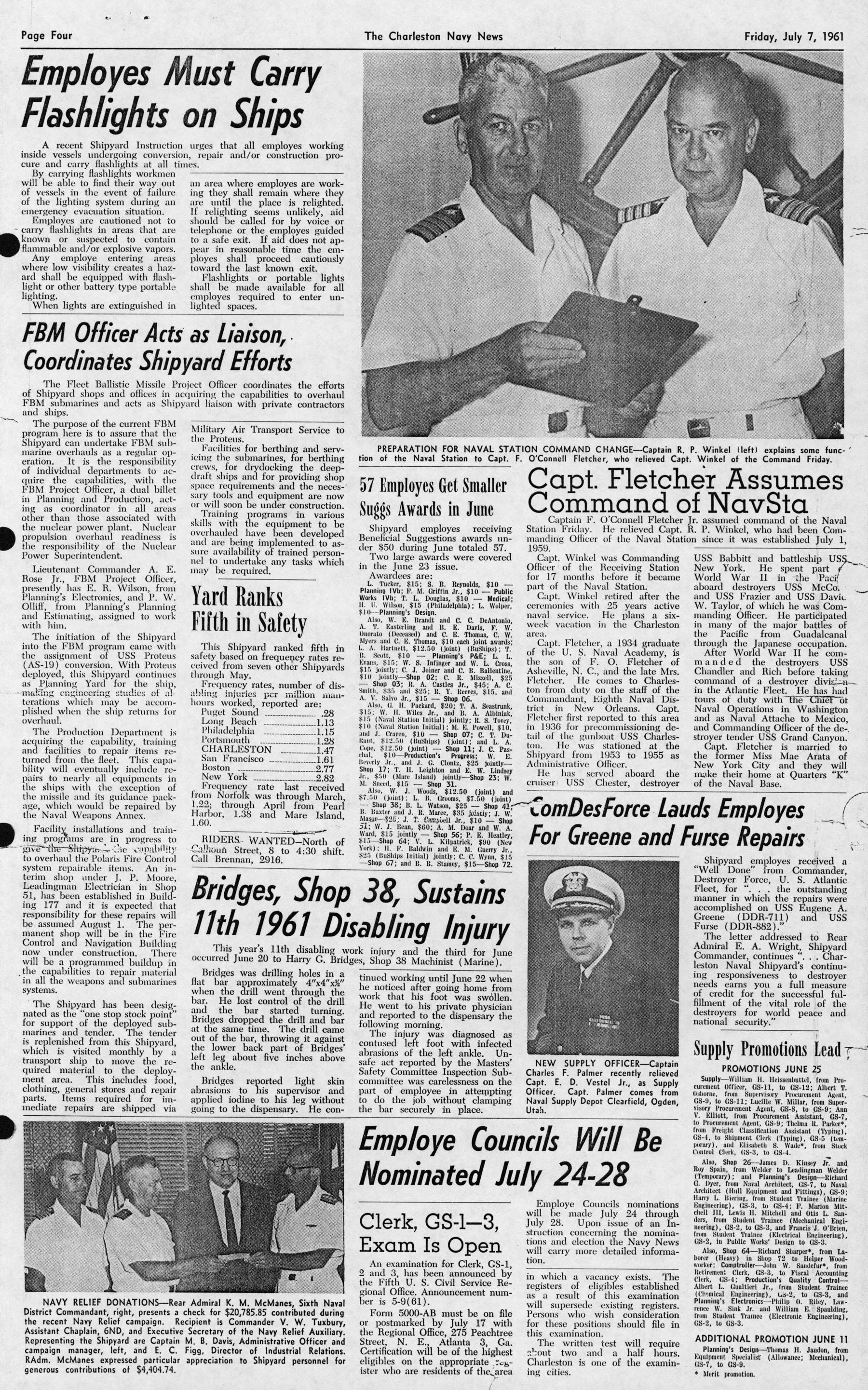 The Charleston Navy News, Volume 20, Edition 1, page iv
