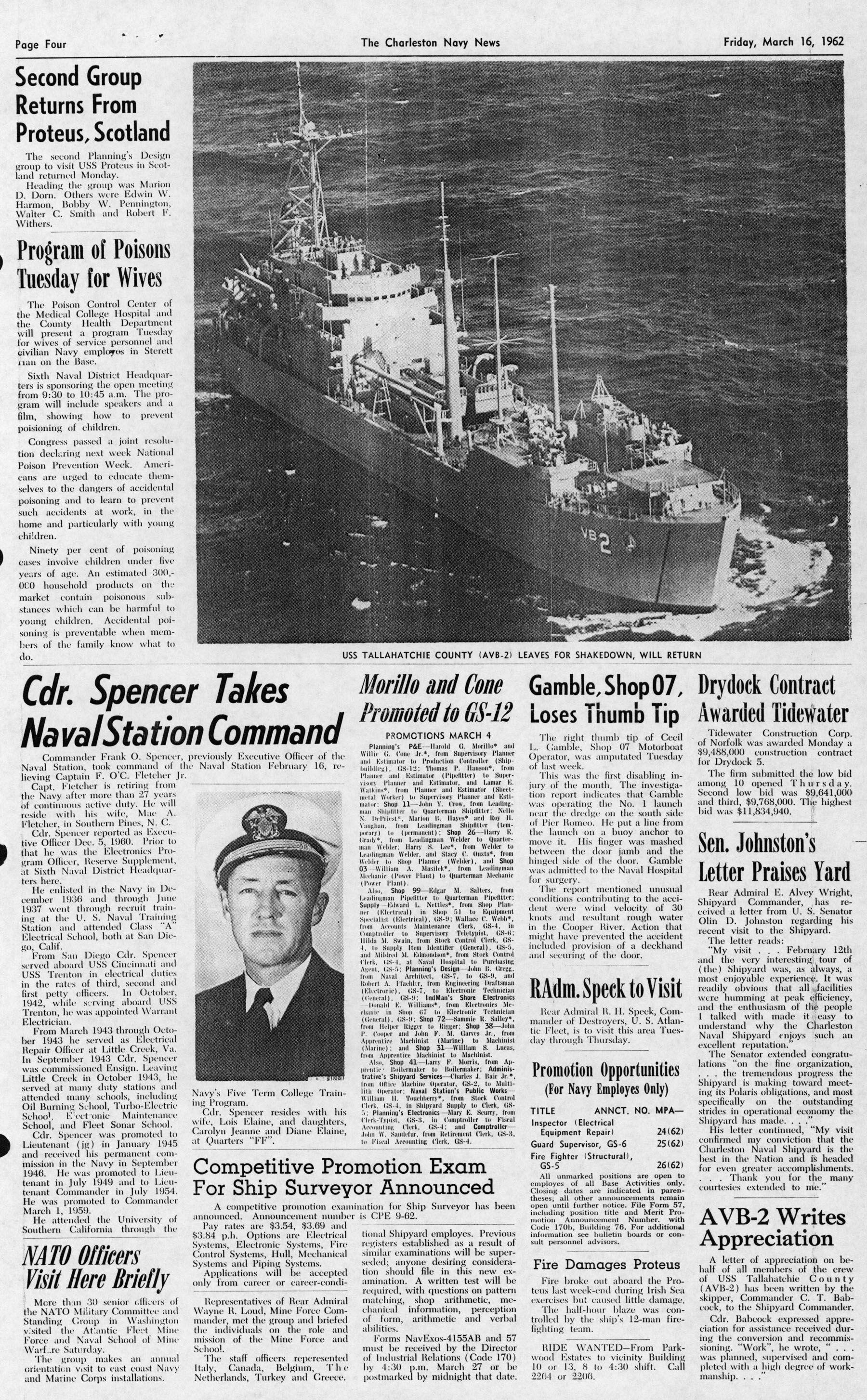 The Charleston Navy News, Volume 20, Edition 18, page iv