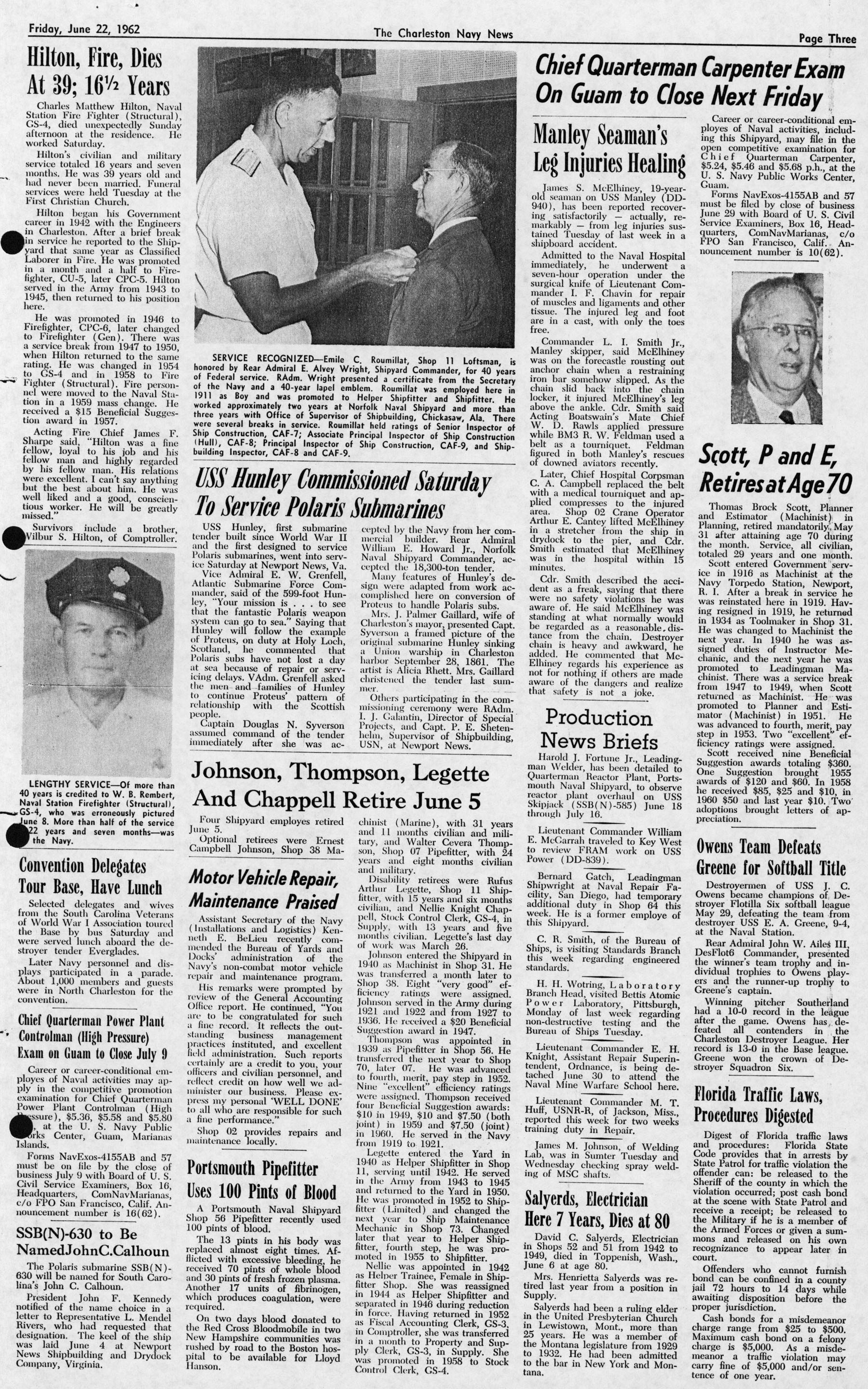 The Charleston Navy News, Volume 20, Edition 24, page iii