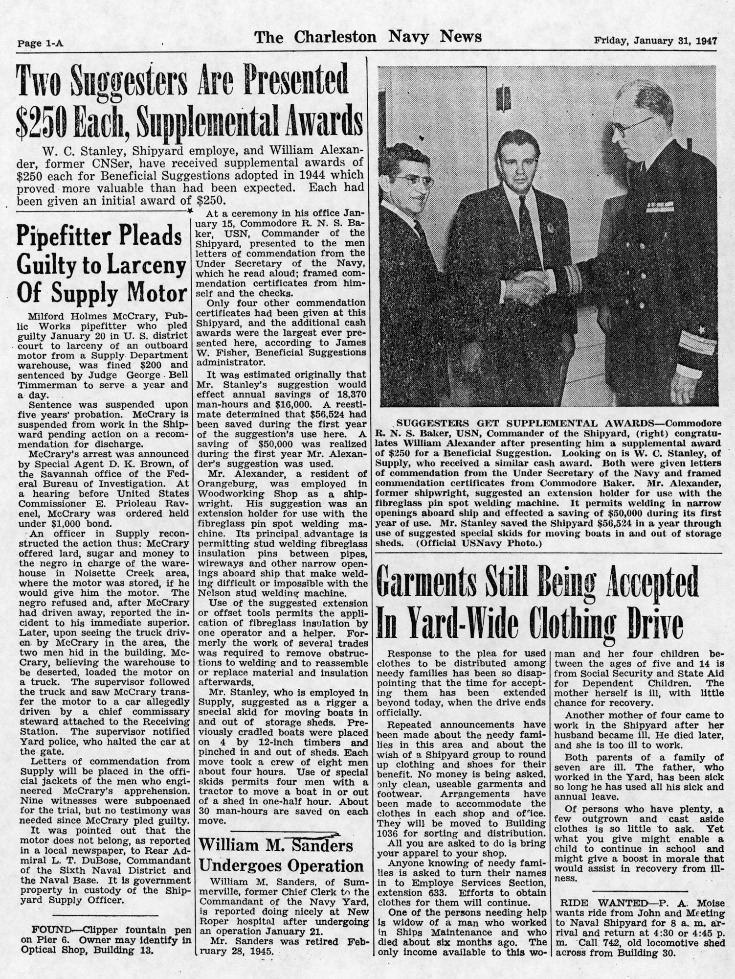 The Charleston Navy News, Volume 5, Edition 13, page ia