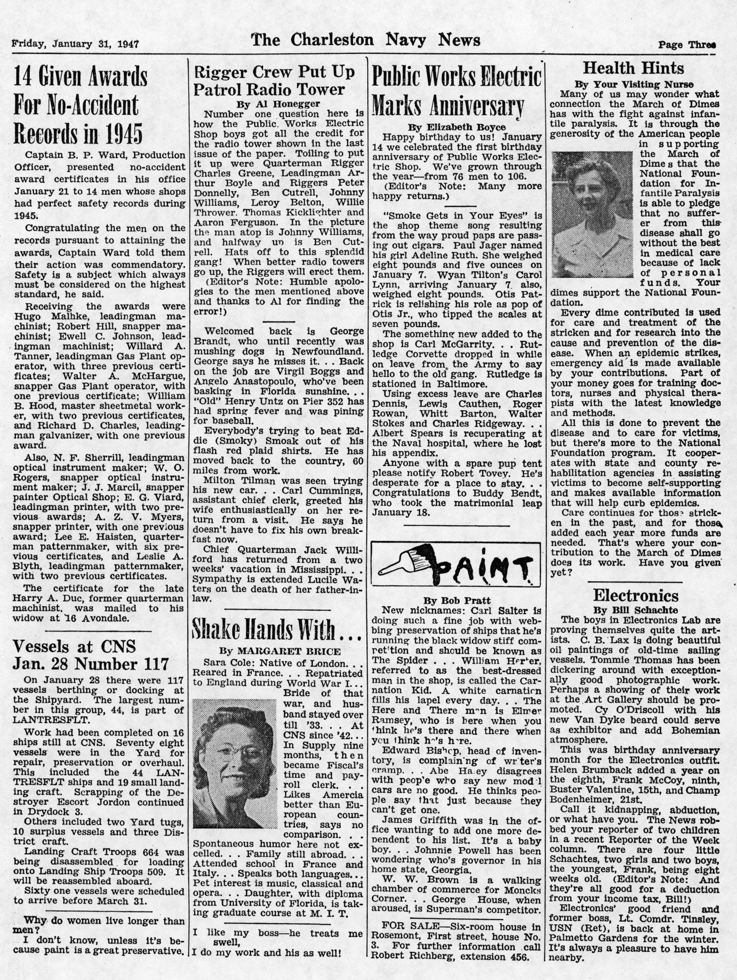 The Charleston Navy News, Volume 5, Edition 13, page iii