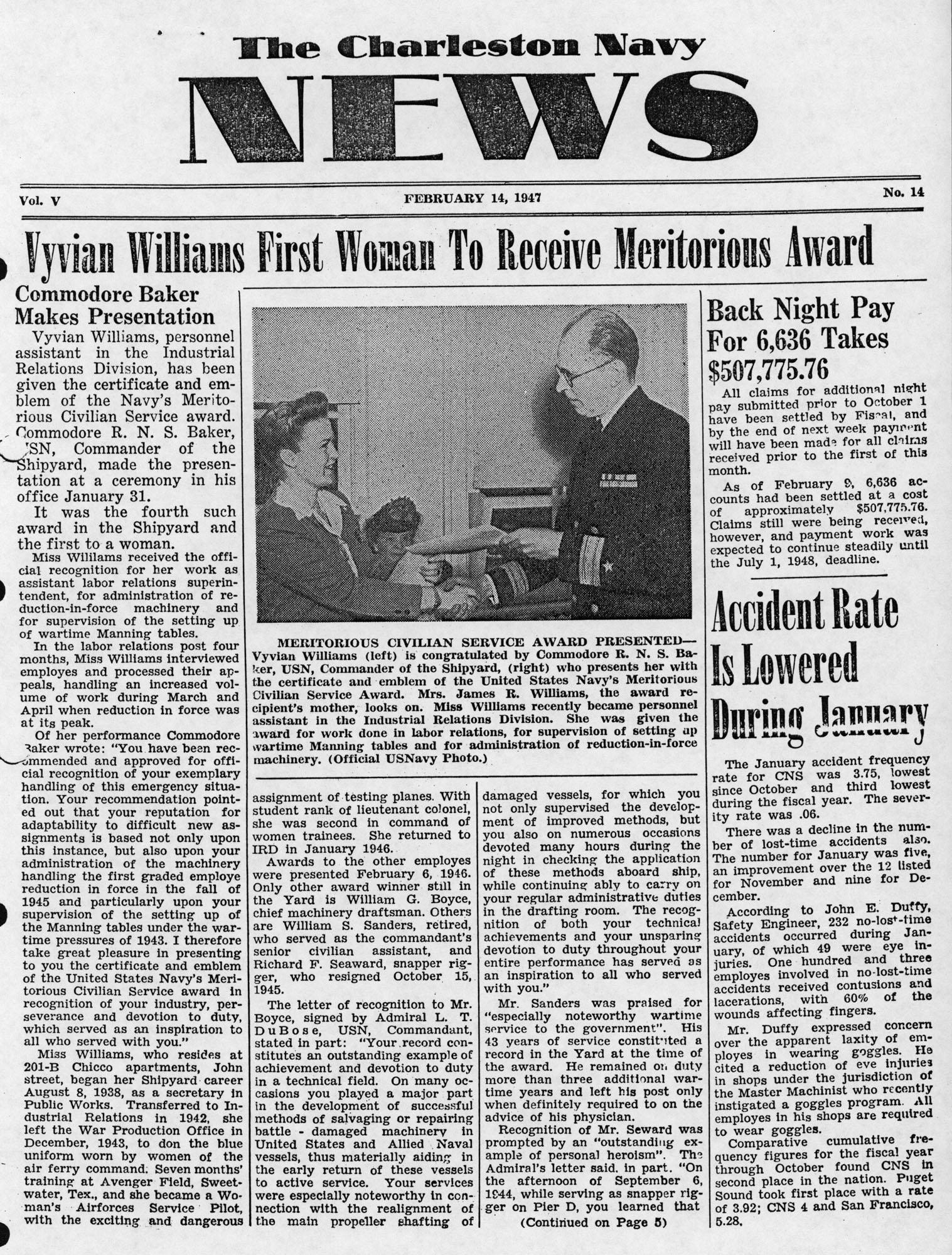 The Charleston Navy News, Volume 5, Edition 14, page i