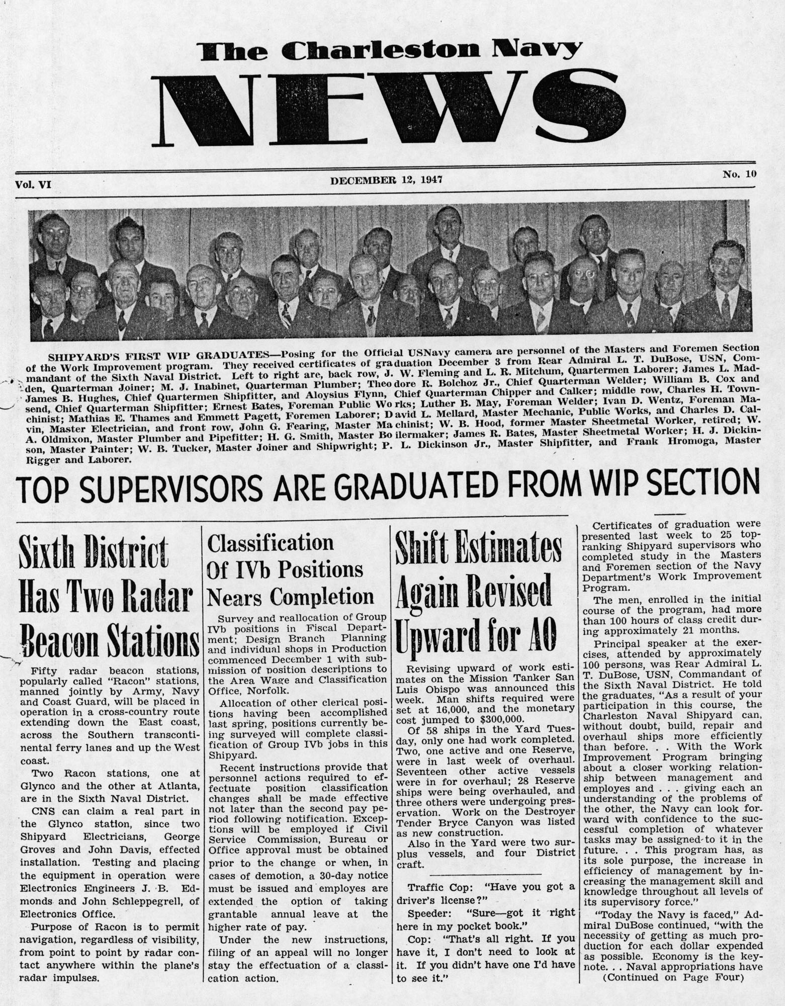 The Charleston Navy News, Volume 6, Edition 10, page i