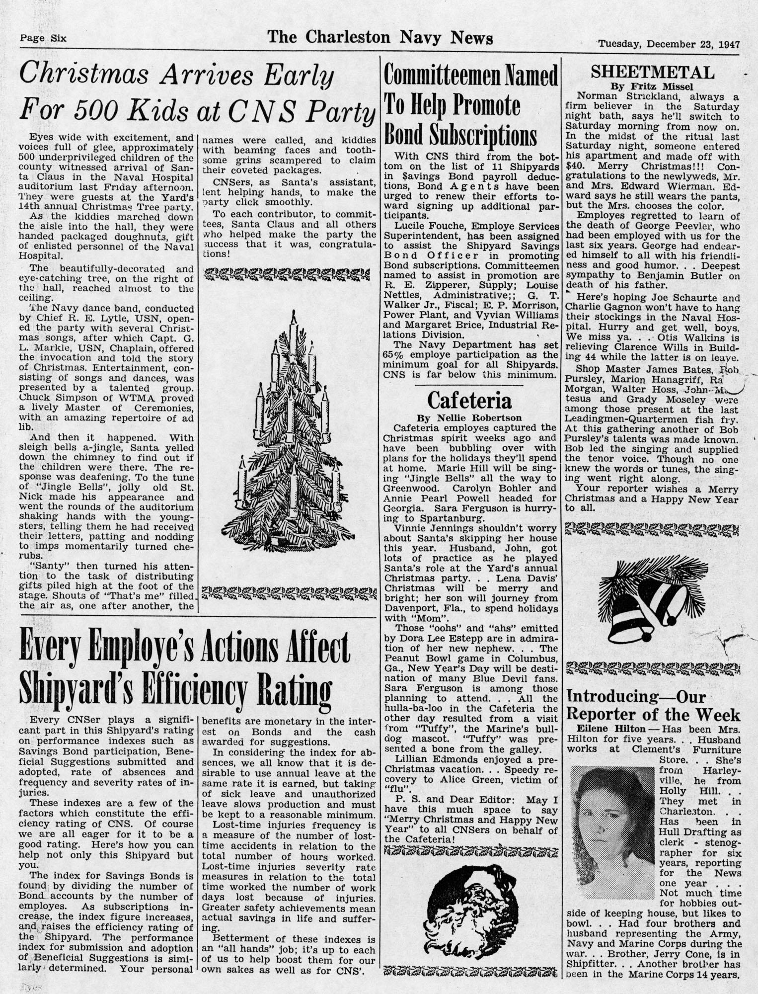 The Charleston Navy News, Volume 6, Edition 11, page vi