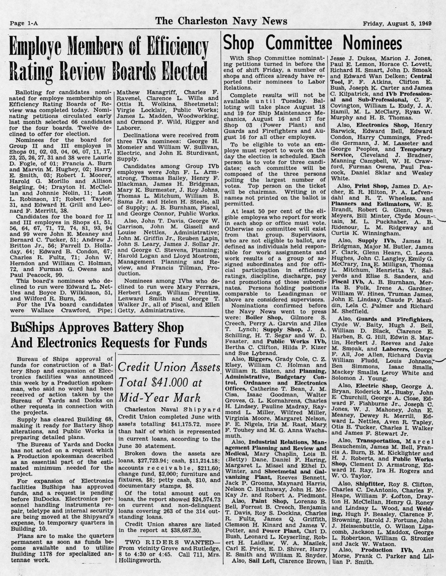 The Charleston Navy News, Volume 8, Edition 1, page ia