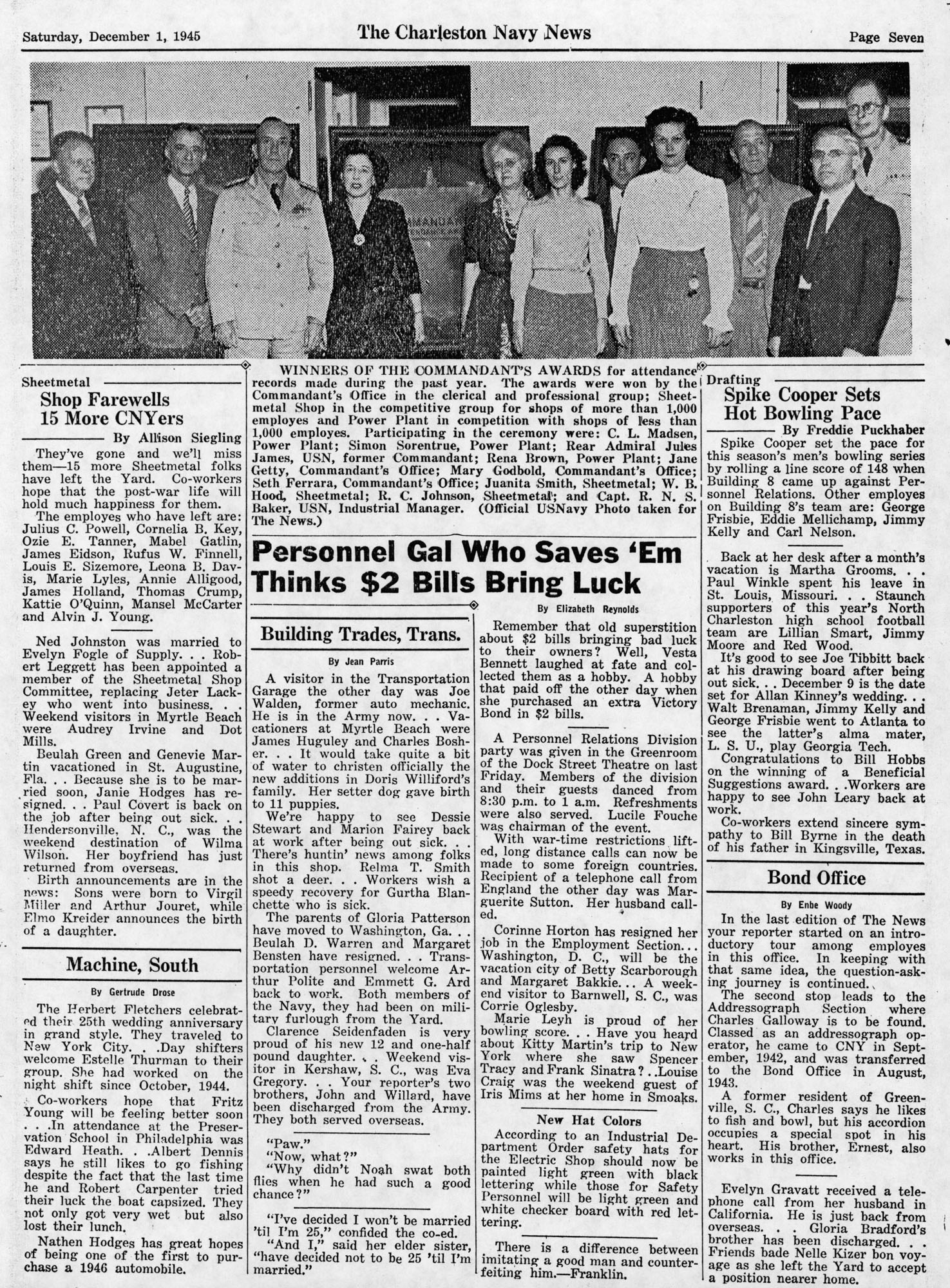 The Charleston Navy News, Volume 4, Edition 11, page vii