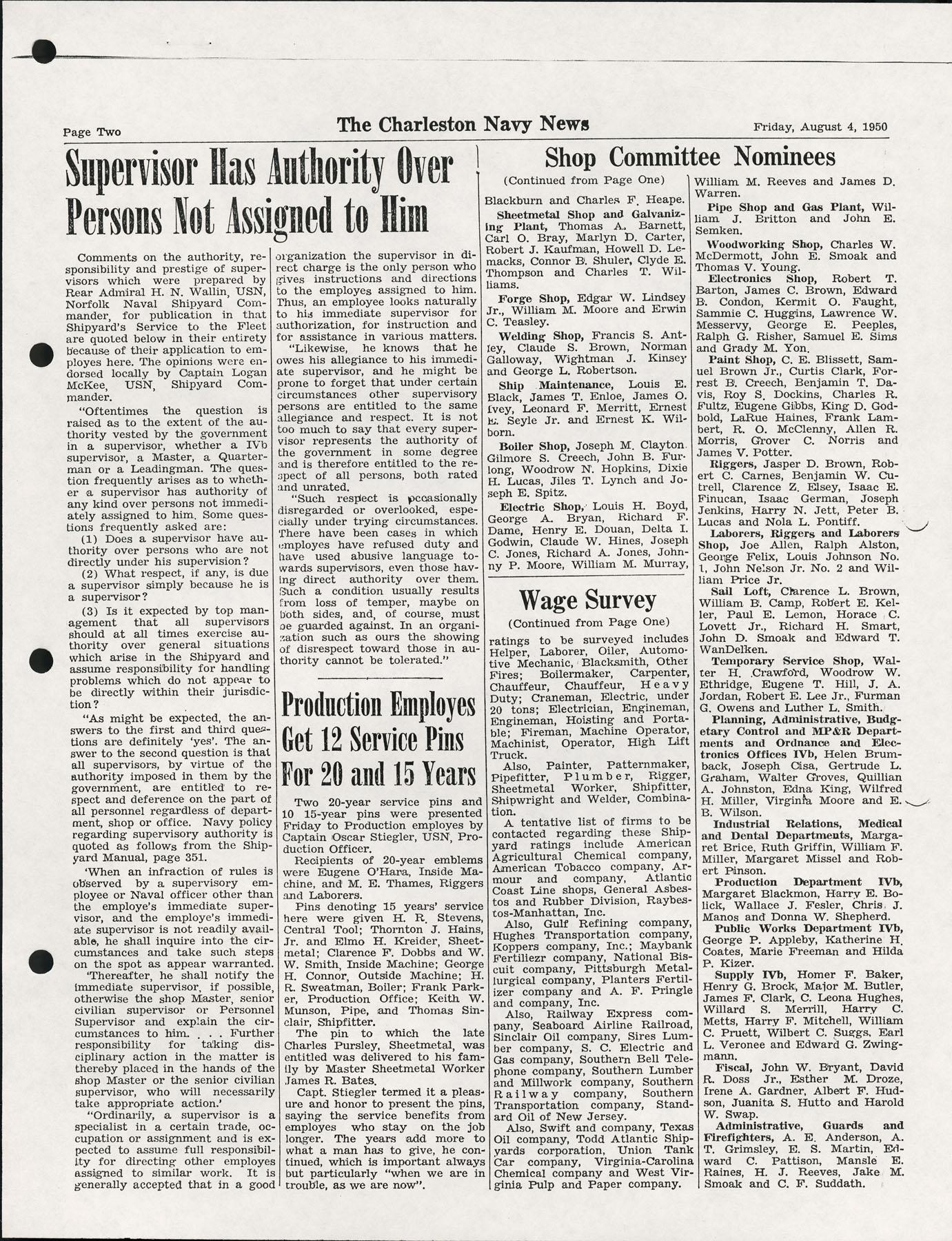 The Charleston Navy News, Volume 9, Edition 1, page ii