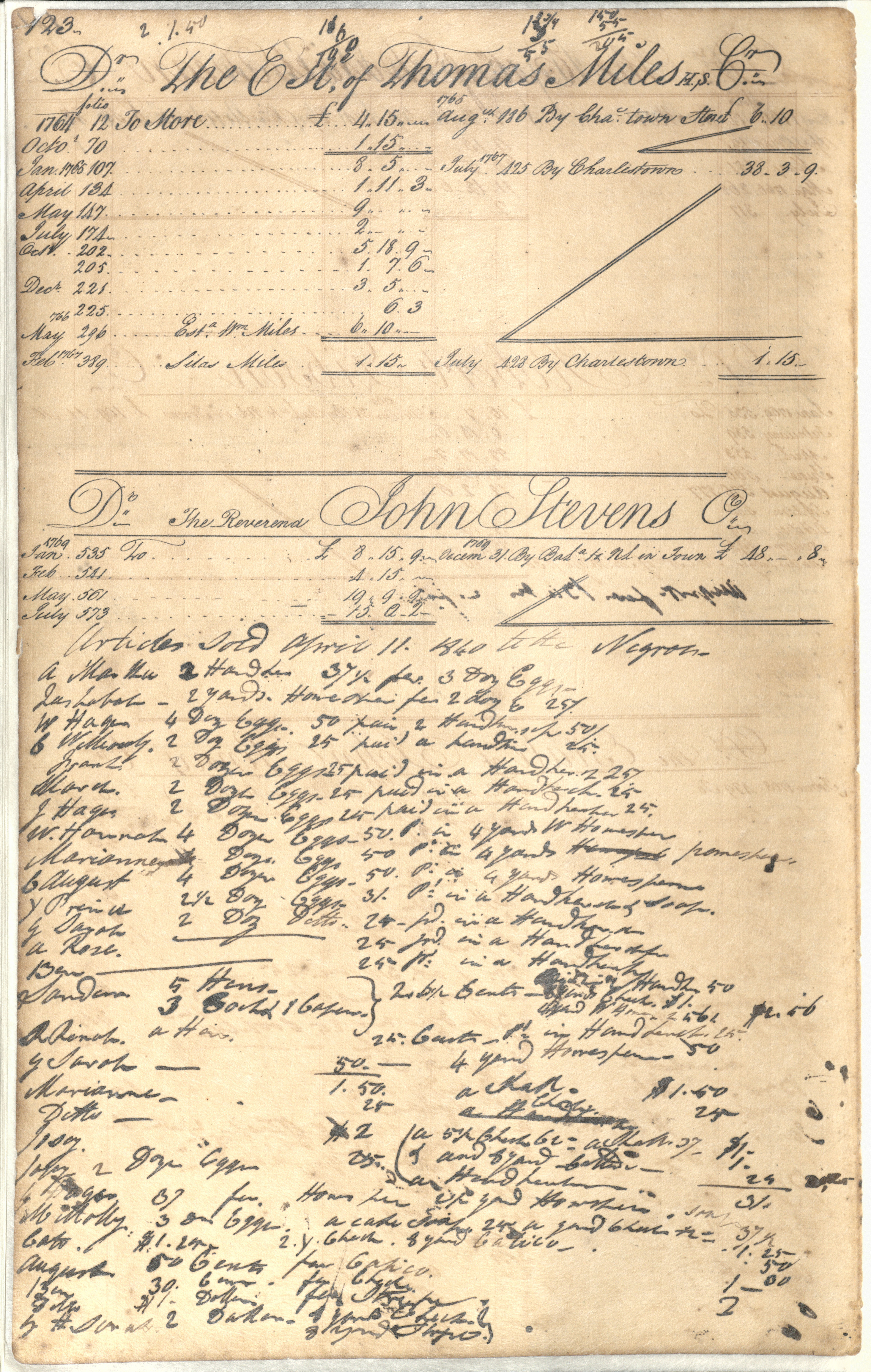 Plowden Weston's Business Ledger, page 123