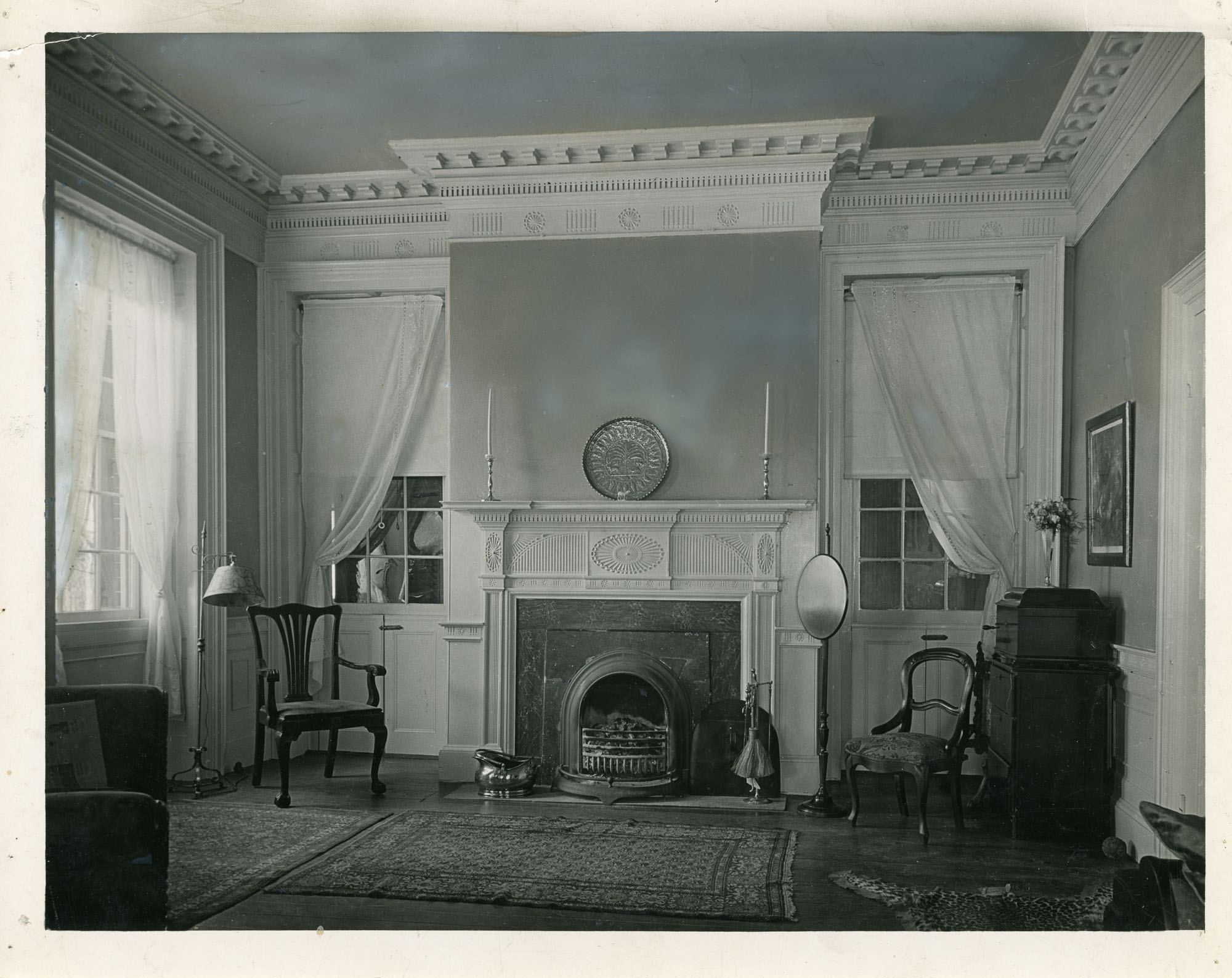 Brewton-Salter House, West Wall, Second Floor Drawing Room