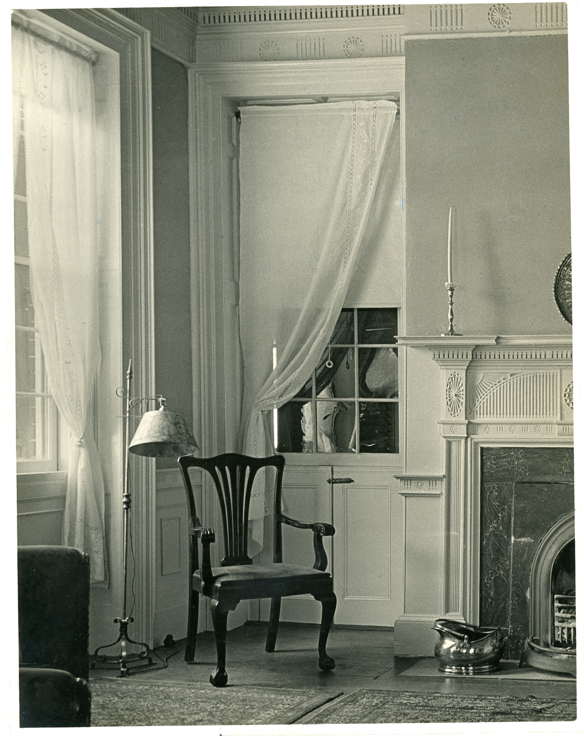 Brewton-Salter House, Double-Hung Window with Doors West Wall, Second Floor Drawing Room
