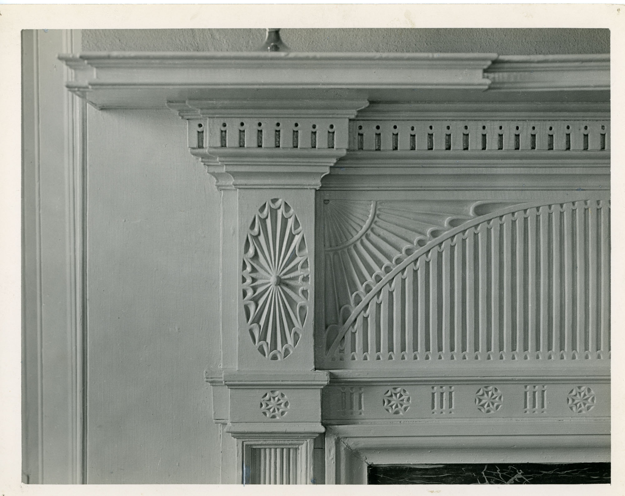 Detail of Mantel, Drawing Room, Second Floor, Brewton-Sawter House