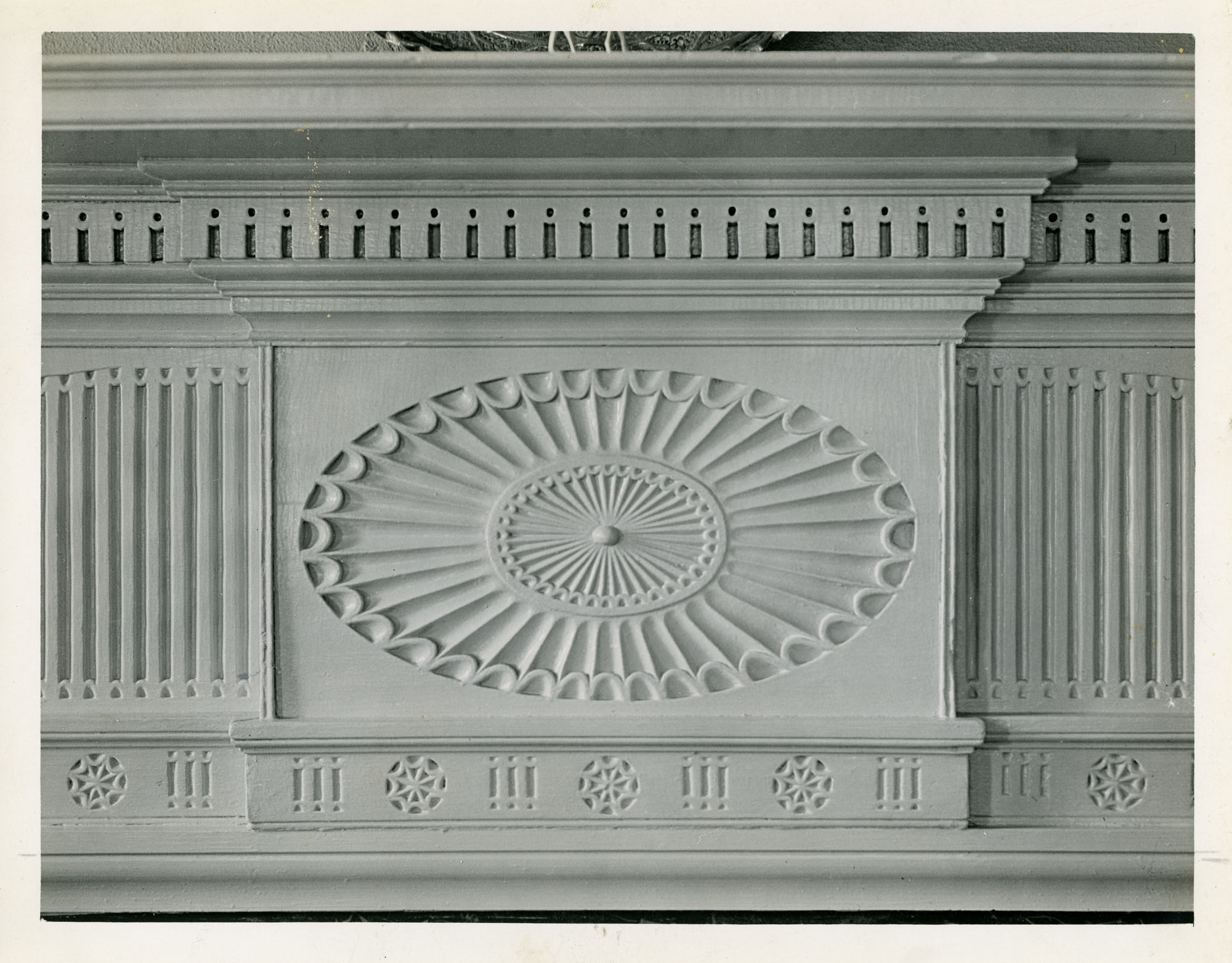 Detail of Center of Mantel, Drawing Room, Second Floor, Brewton-Sawter House