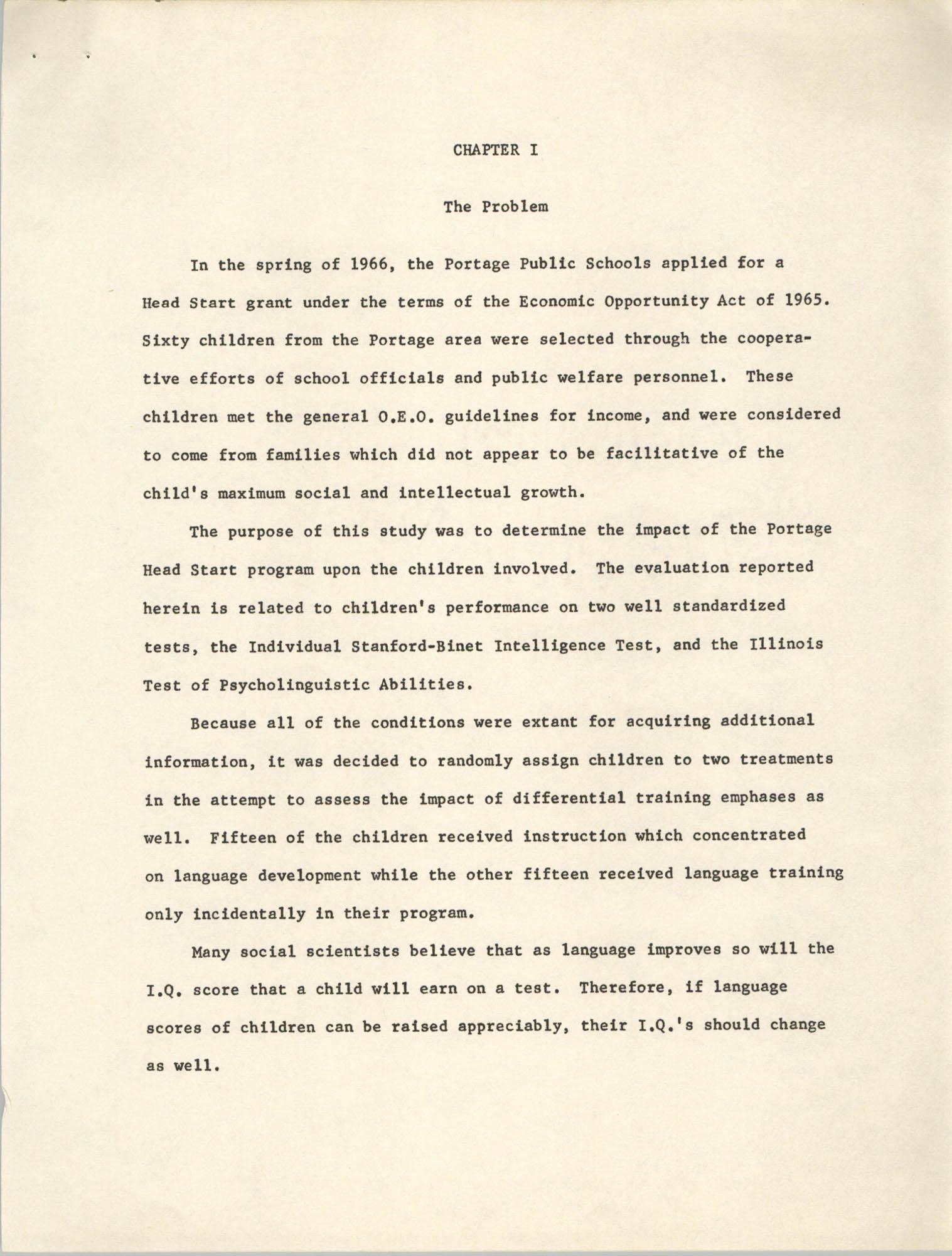 Head Start: Summer 1966, Page 1