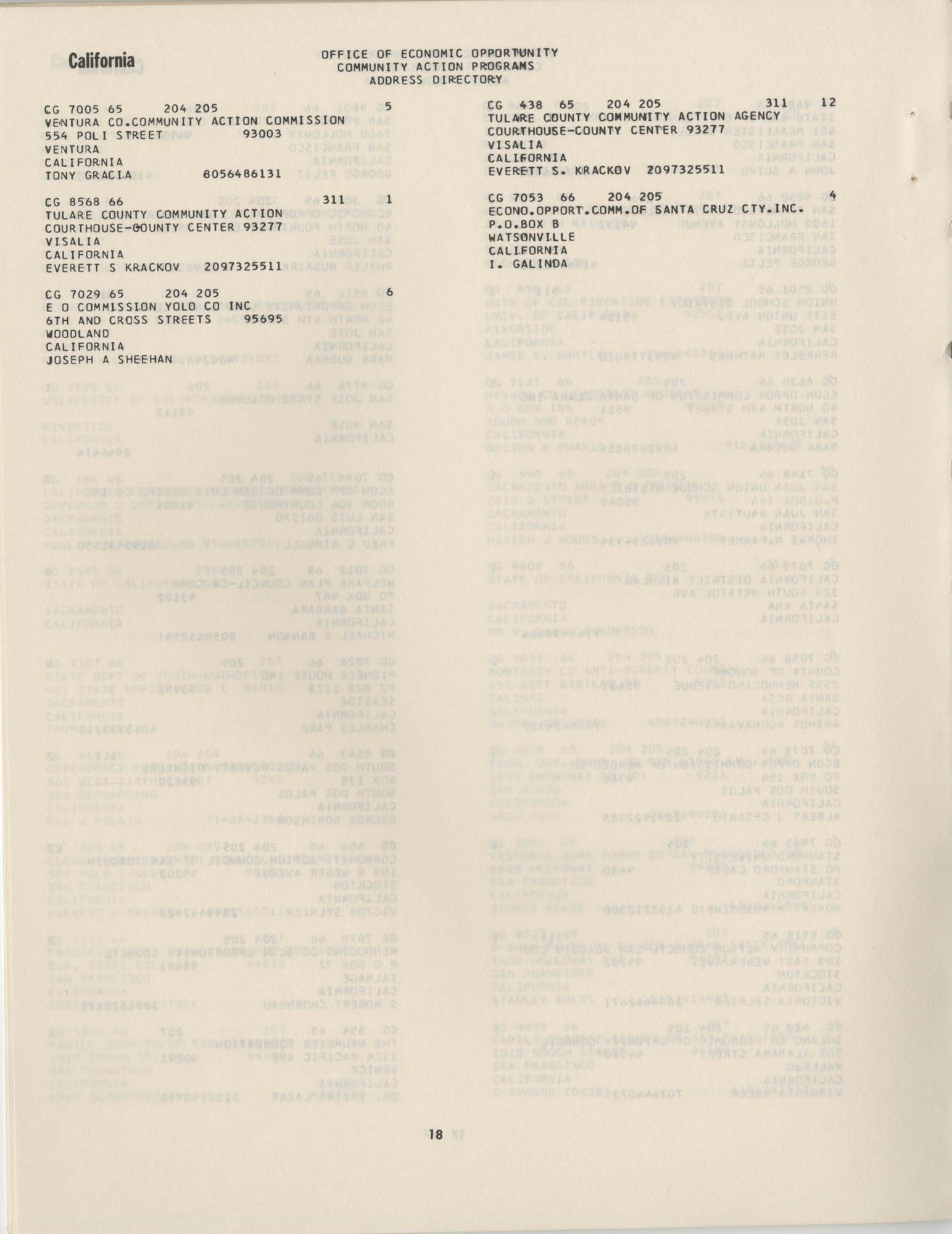 Community Action Programs Directory, June 15, 1966, Page 18