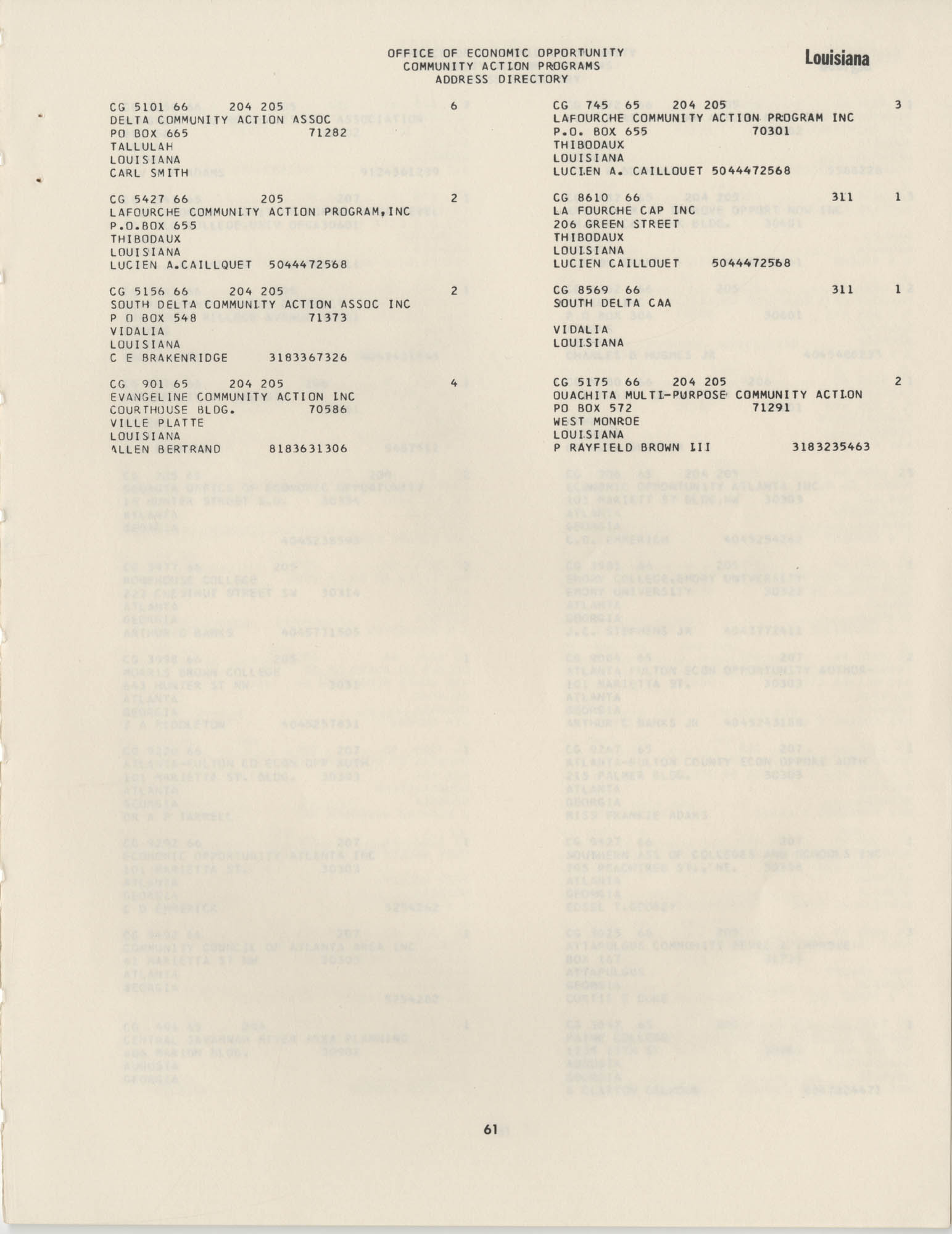 Community Action Programs Directory, June 15, 1966, Page 61