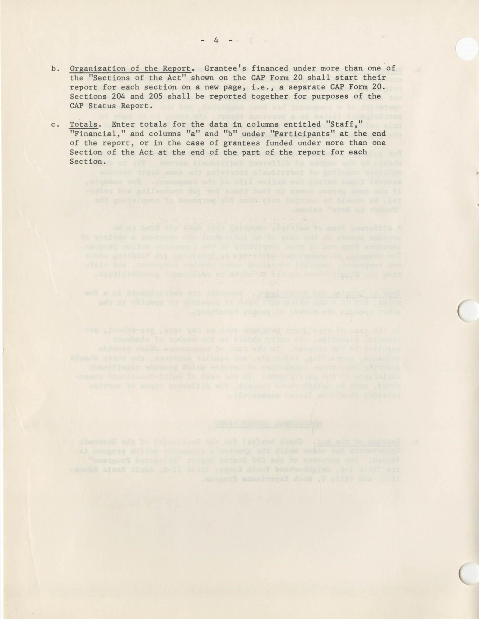 Community Action Program Memorandum No. 8, Attachment No. 1, Page 4