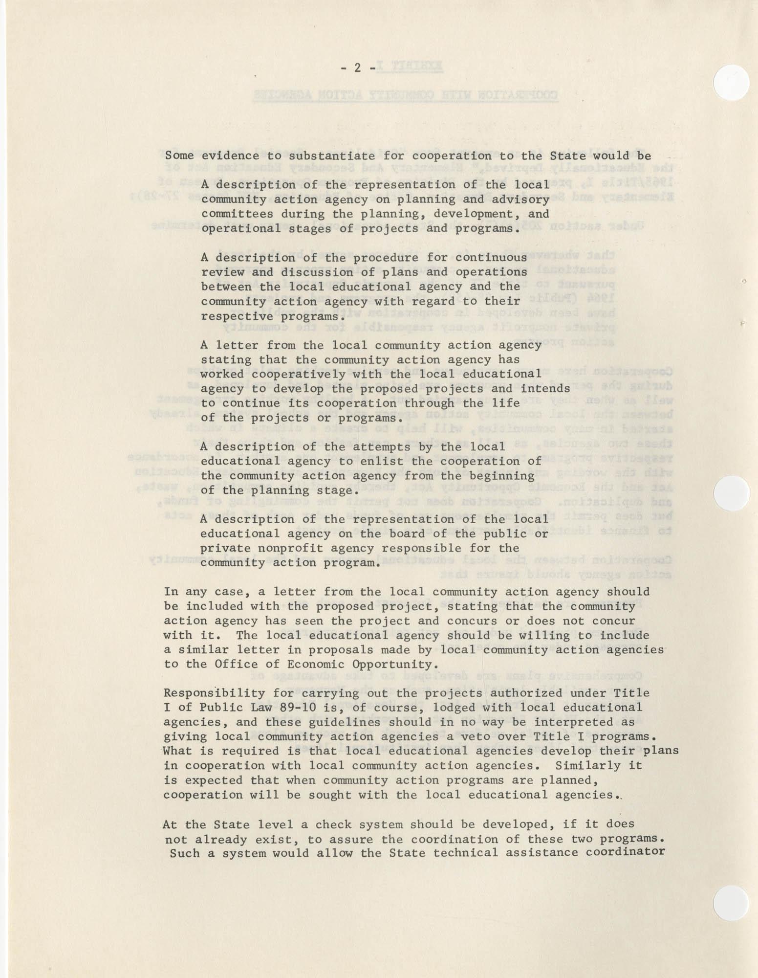 Community Action Program Memorandum No. 27, Exhibit 1 Page 2