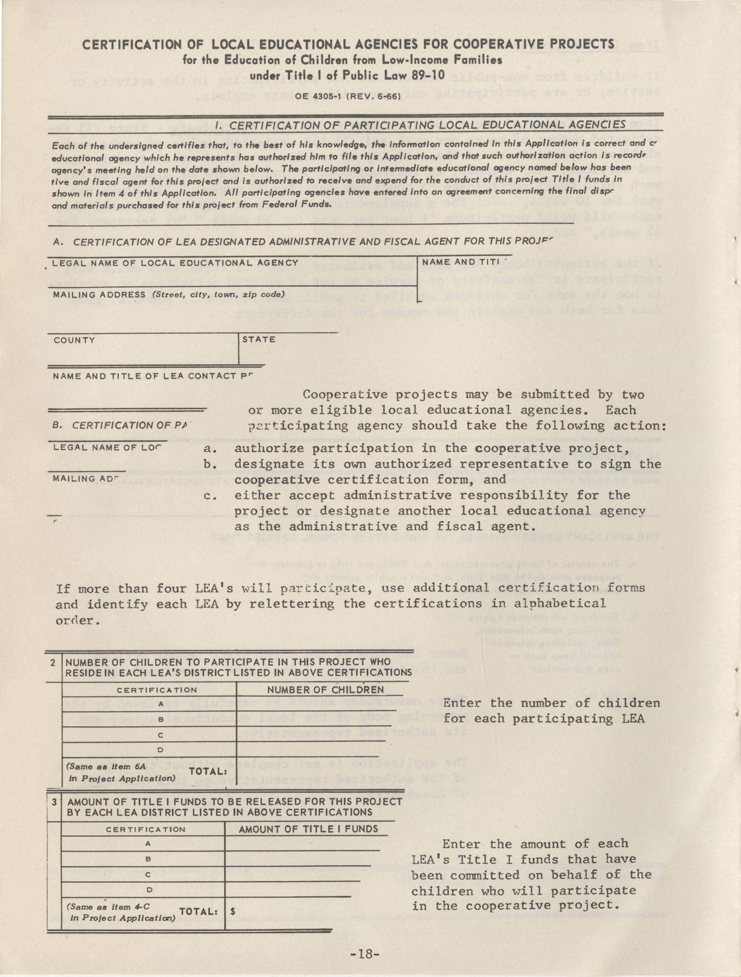 Instructions for Title 1, 1967 Application Forms, Page 18
