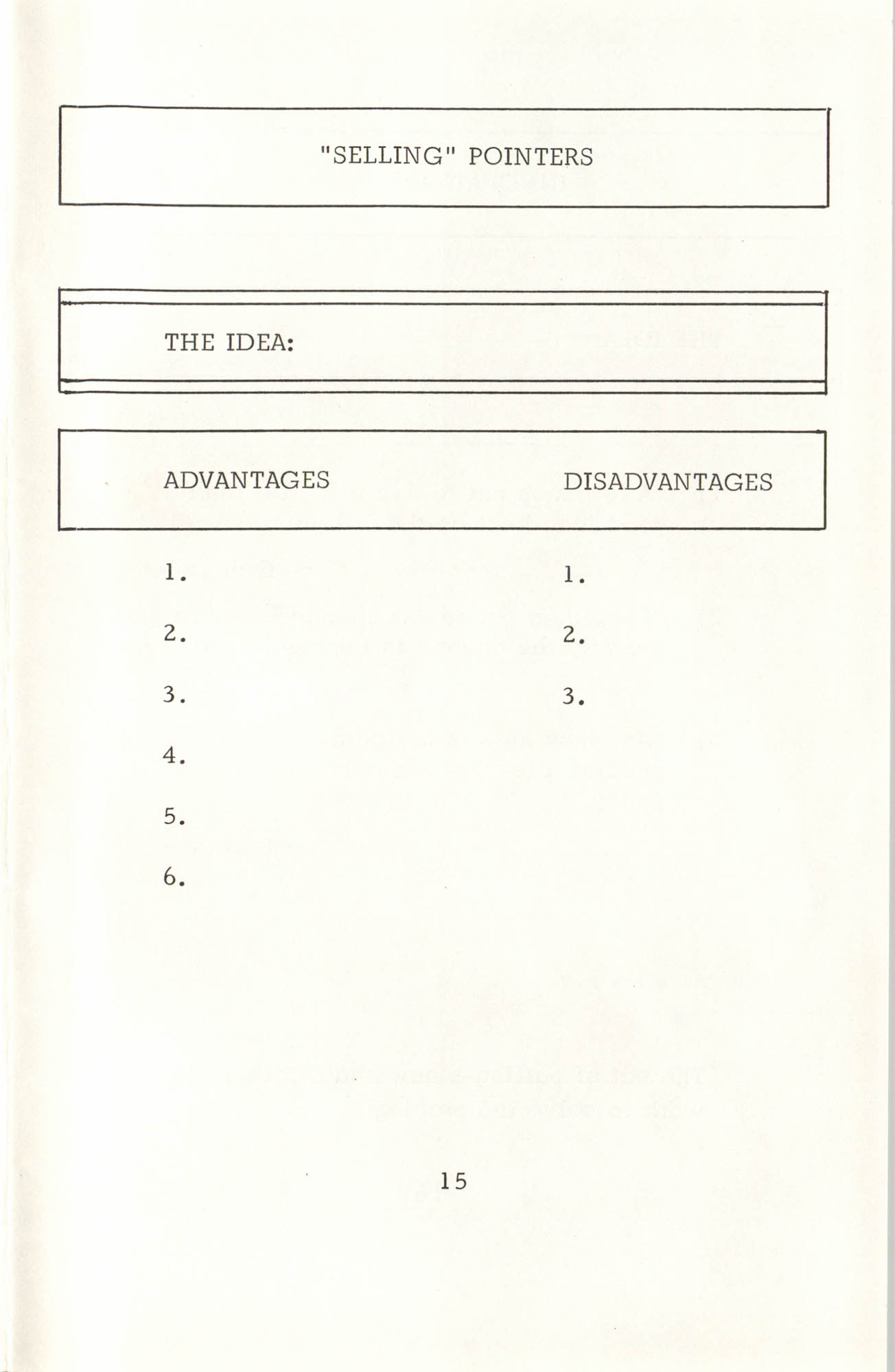 Creative Thinking Work Sheets, Page 15