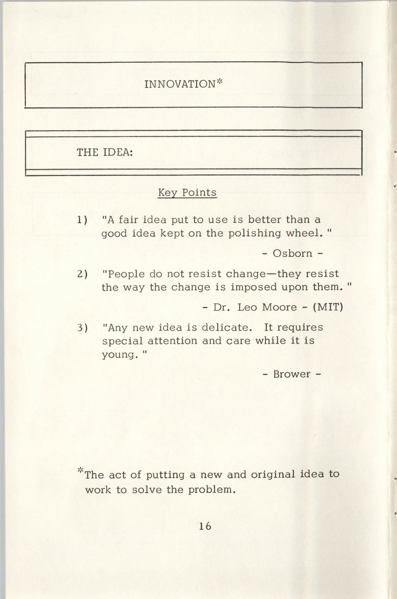 Creative Thinking Work Sheets, Page 16