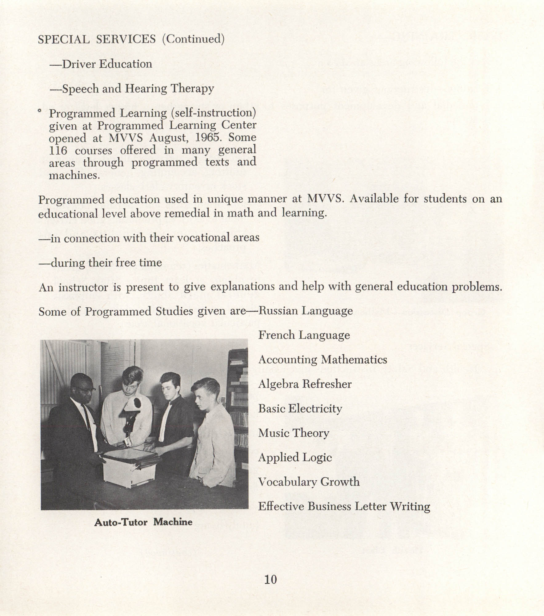 Mahoning Valley Vocational School Pamphlet, Page 10