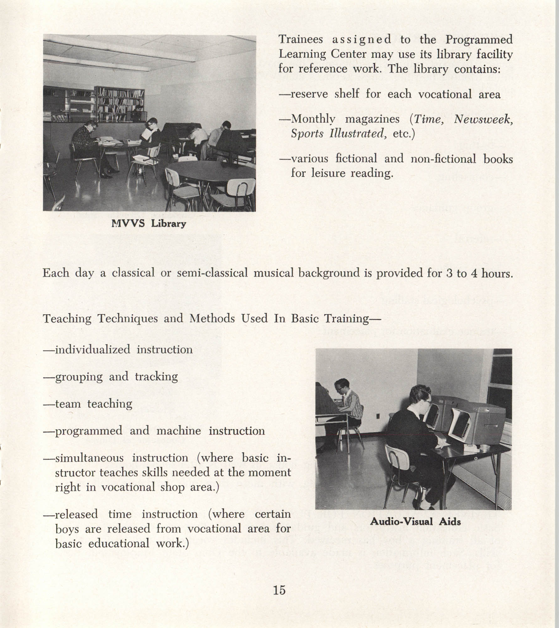 Mahoning Valley Vocational School Pamphlet, Page 15