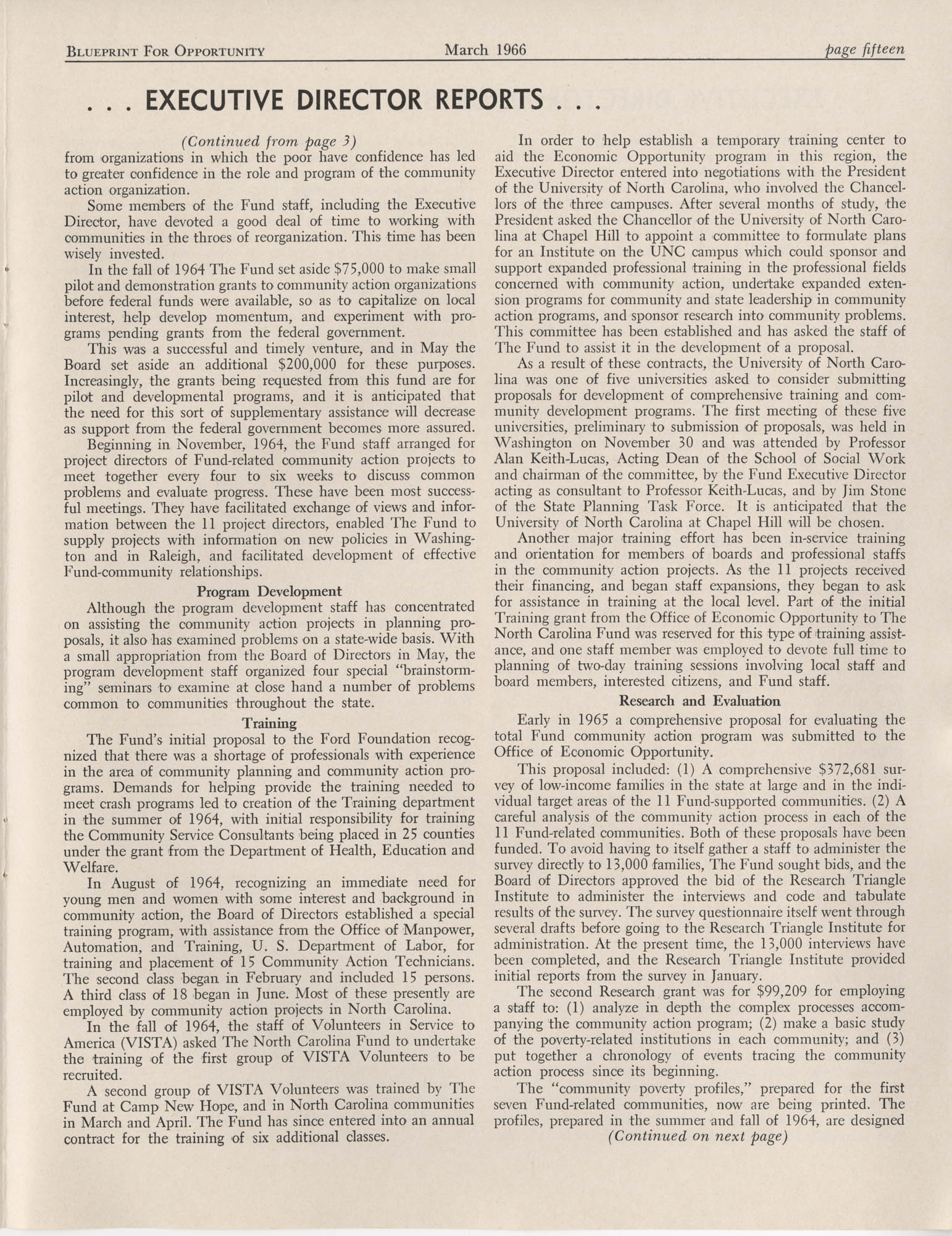 Blueprint for Opportunity, Vol. 2, No. 1, Page 15