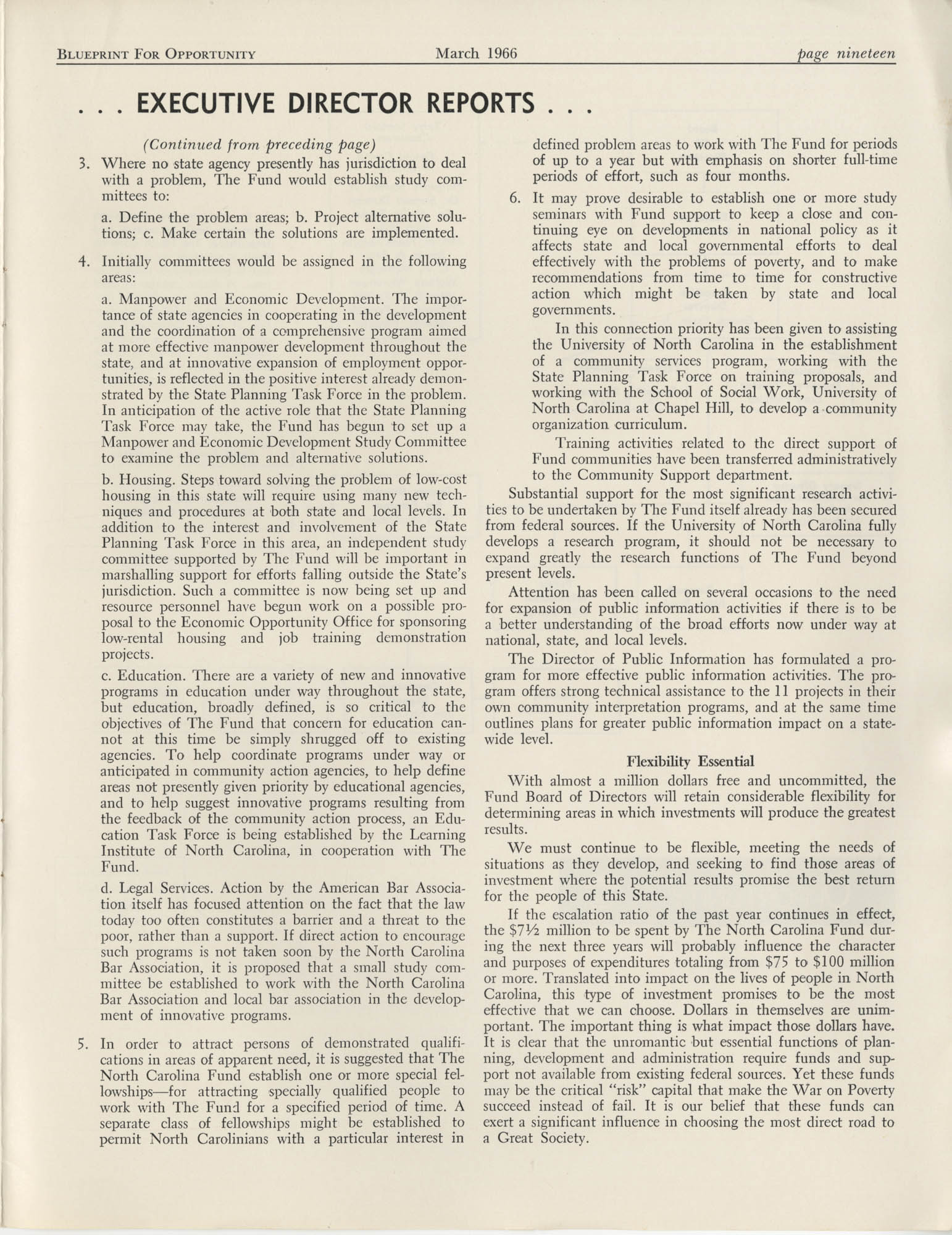 Blueprint for Opportunity, Vol. 2, No. 1, Page 19