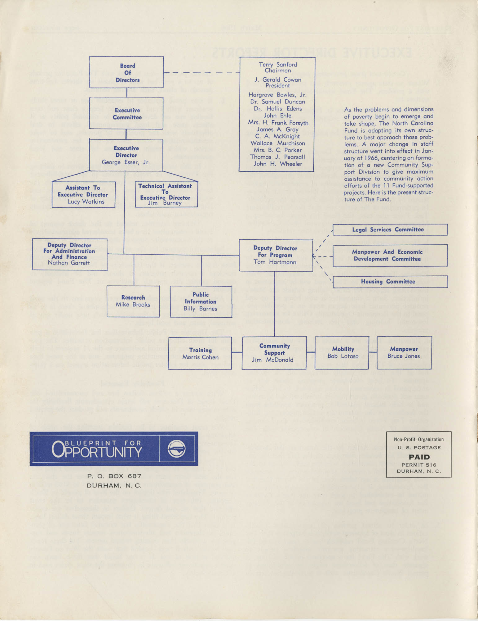 Blueprint for Opportunity, Vol. 2, No. 1, Back Cover