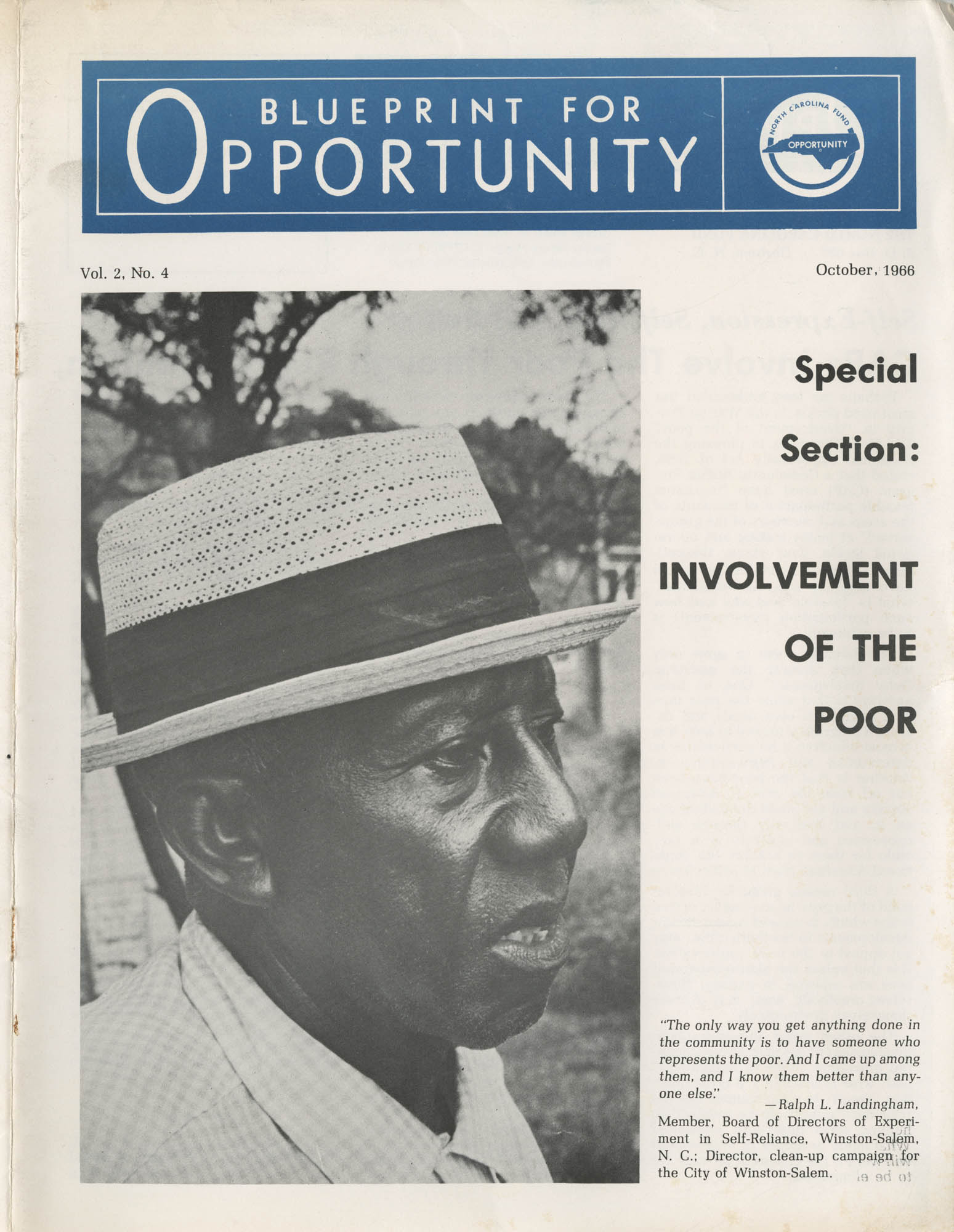 Blueprint for Opportunity, Vol. 2, No. 4, Front Cover