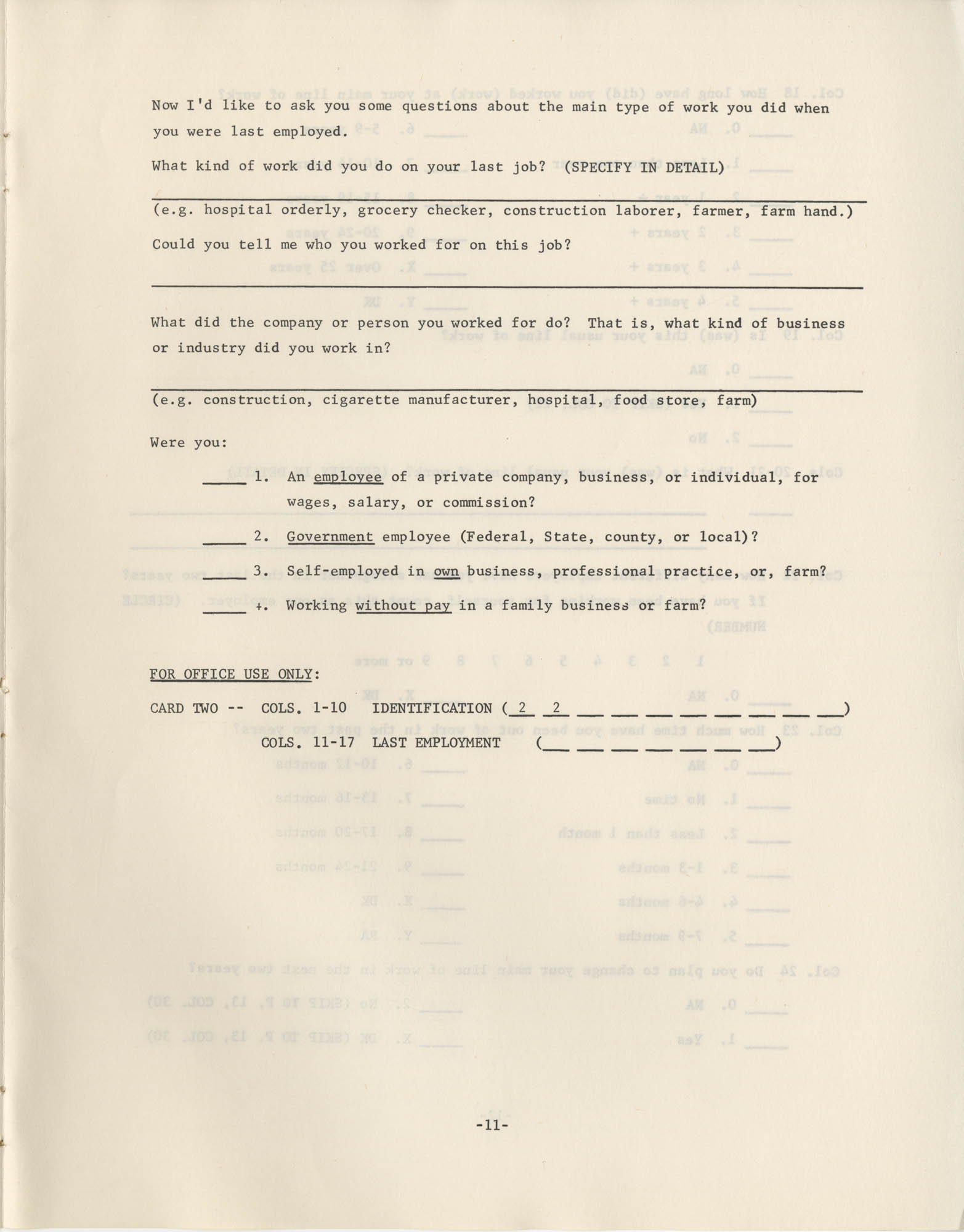 North Carolina Socio-Economic Survey, Page 11