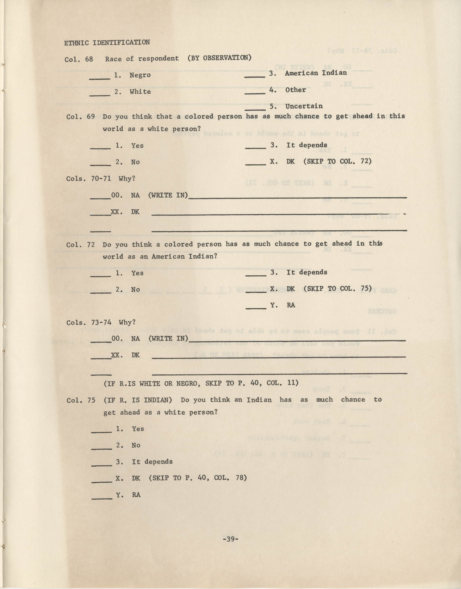 North Carolina Socio-Economic Survey, Page 39
