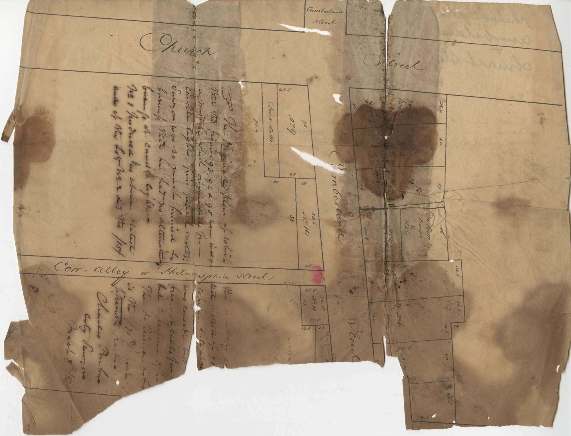 Ward Number 3 Cumberland Street Plat 1839