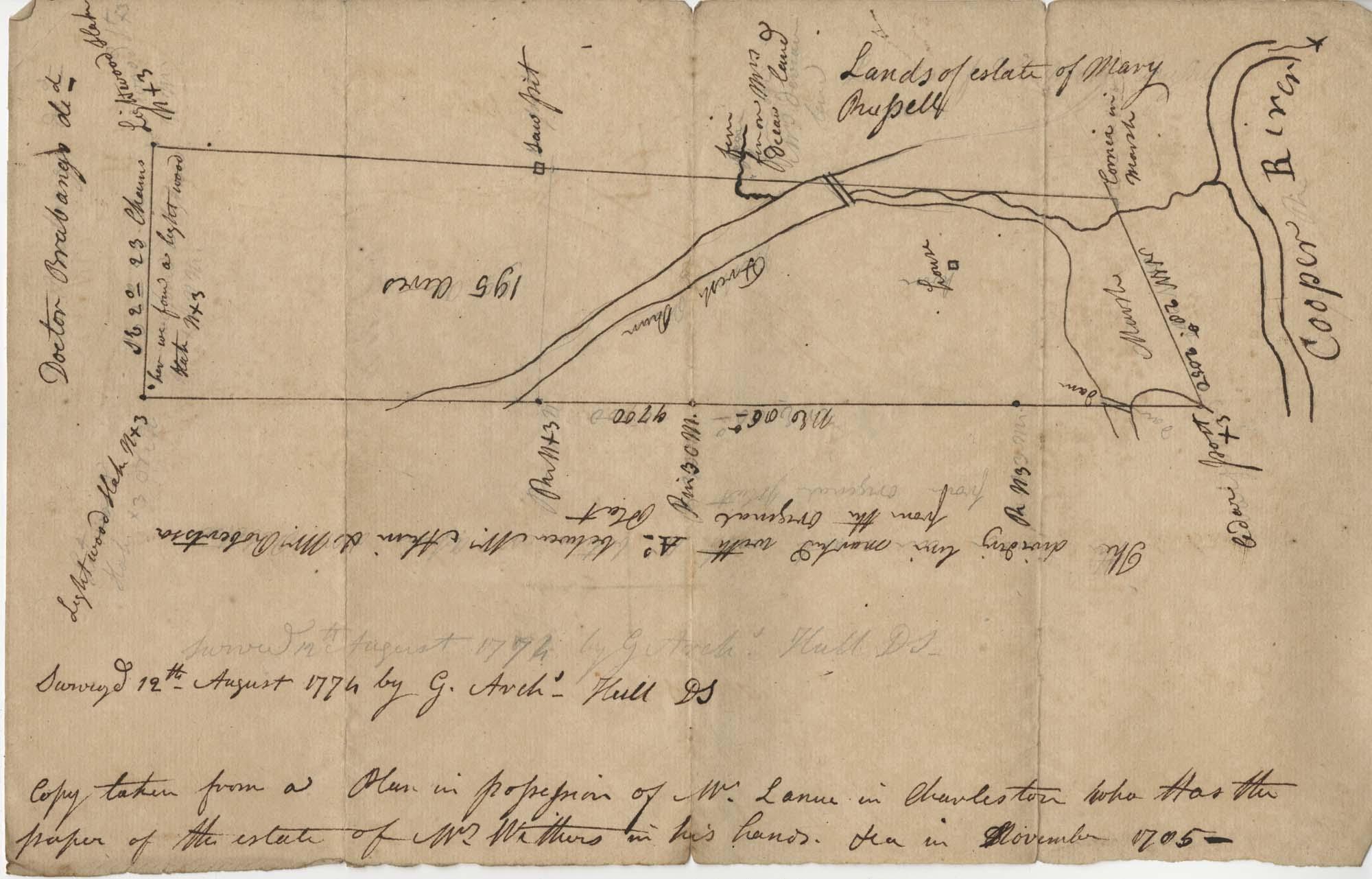 Plat Near Cooper River 1774